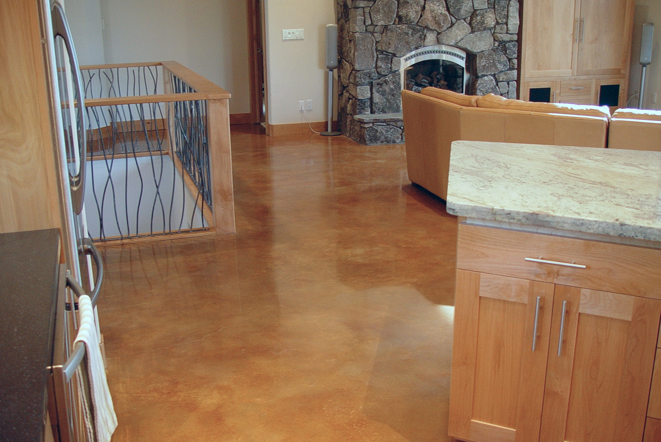 Stained and Polished concrete.
