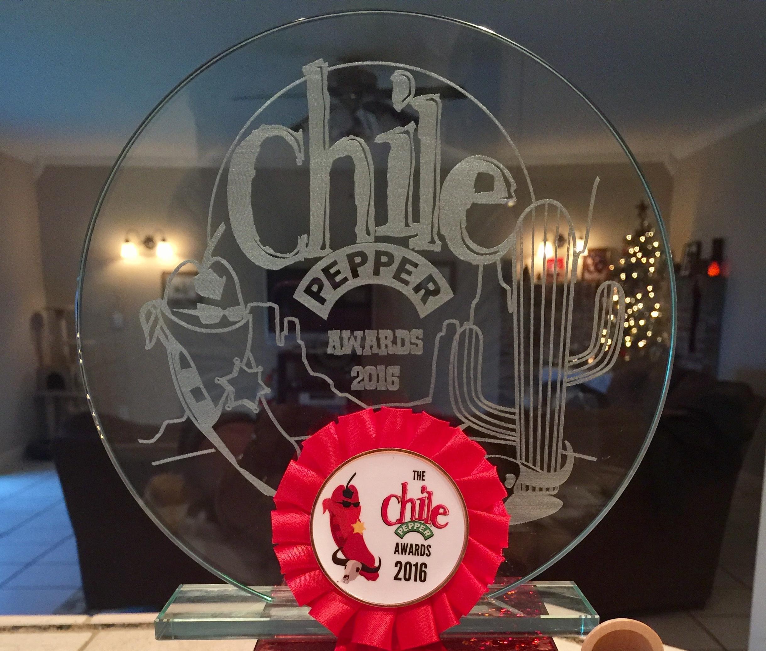 Chile Pepper Magazine Award