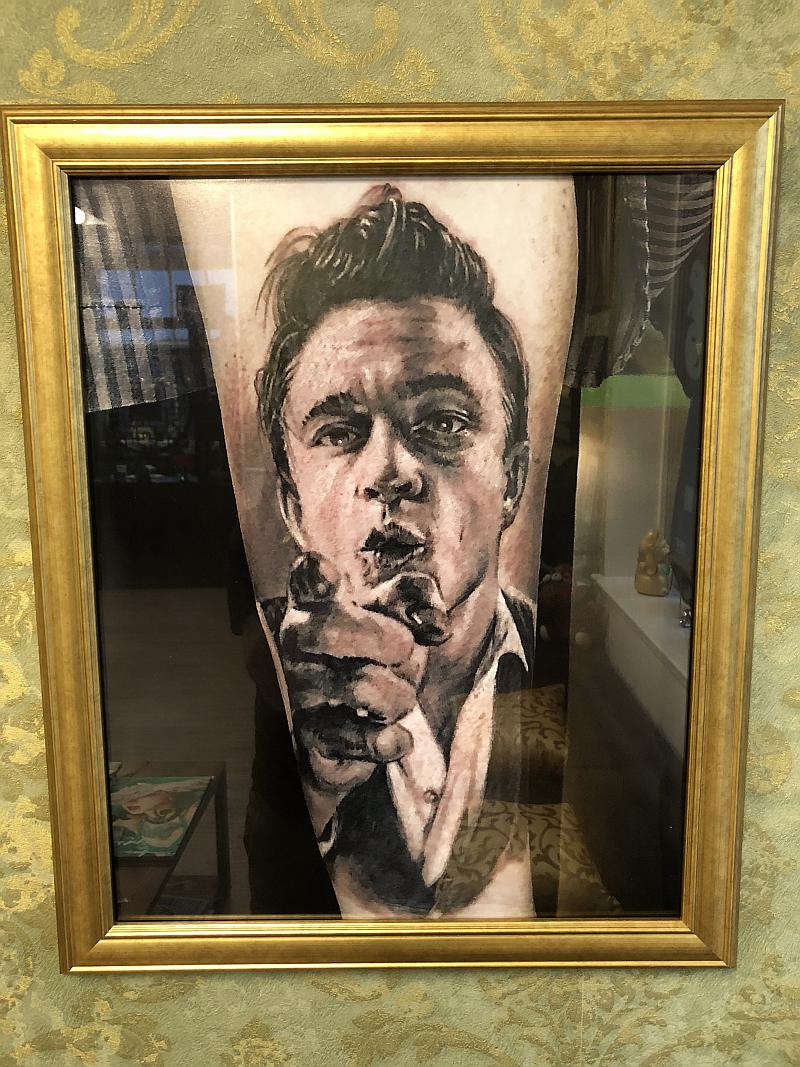 Shanghai Tattoo - 718 Sutter St, Folsom, CAJohnny Cash Tattoo Painting
