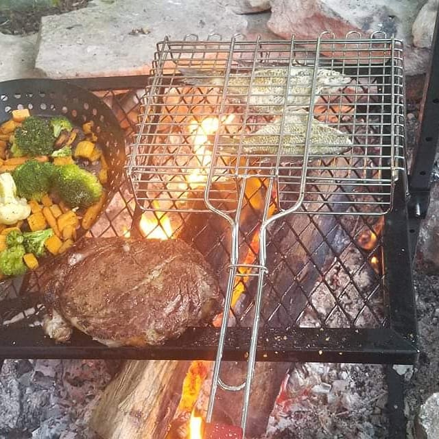 #filletfriday  Yesterday's topic was Fillets (or filets). Jeffery Jenkins threw down with fish and ribeye! Open fire cooking!! Well done!  See this and more over at our Facebook group! Link in the description  #OpenFlame #KeepCooking #bbqpitmastersnovicetoexpert