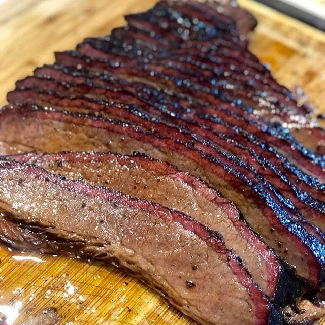 A beautiful brisket!!! American Wagyu smoked over hickory and cherry by Derek Ugland.  #SmokingSaturday #BBQ #Brisket #bbqpitmastersnovicetoexpert #Facebook  See more like this and other fantasic food ideas over on our Facebook group.