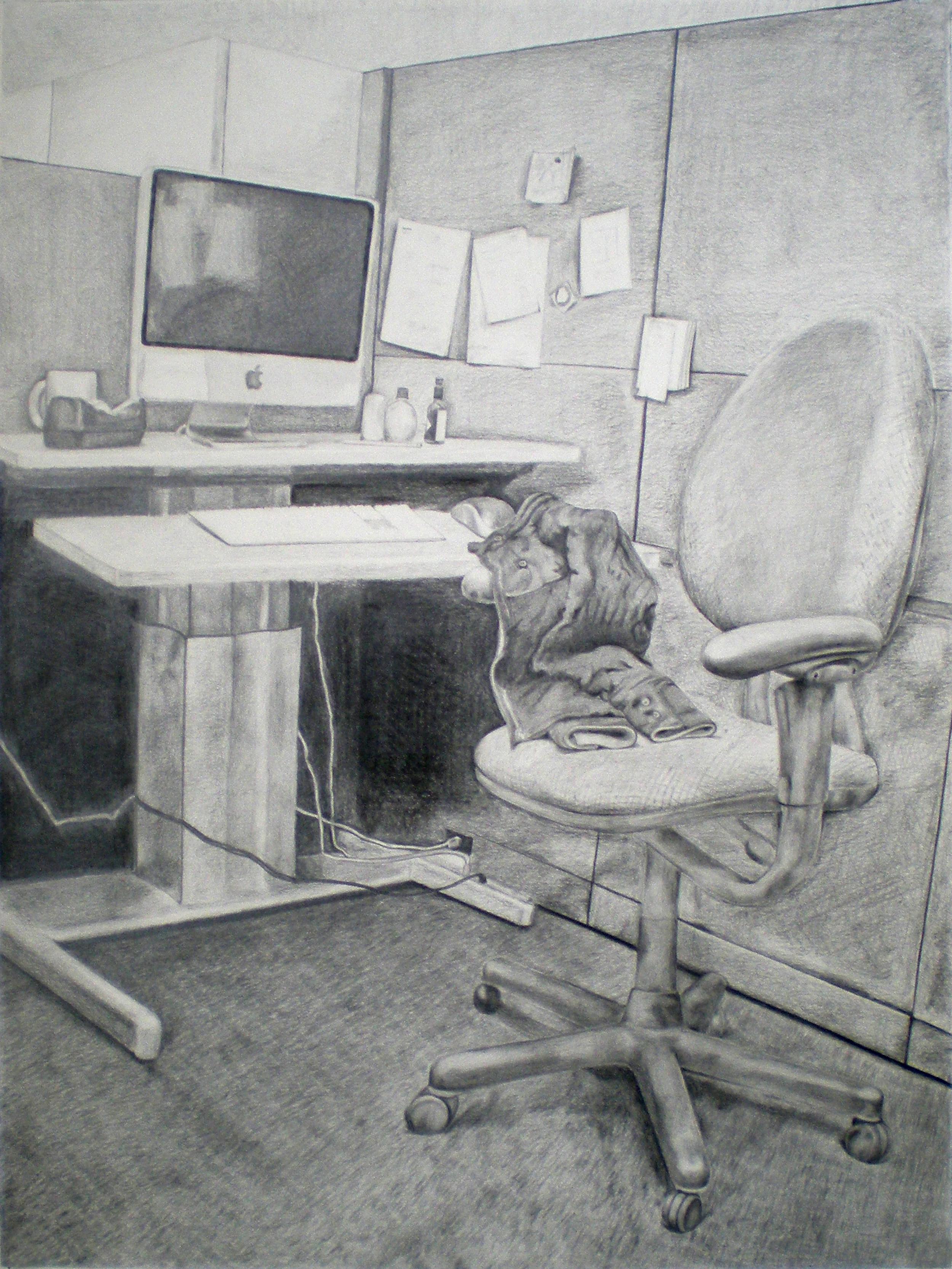 Coat, Desk, Chair