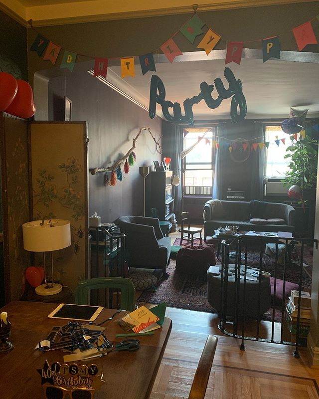 Morning after (confetti everywhere not pictured) party decorations credit @shiauting.