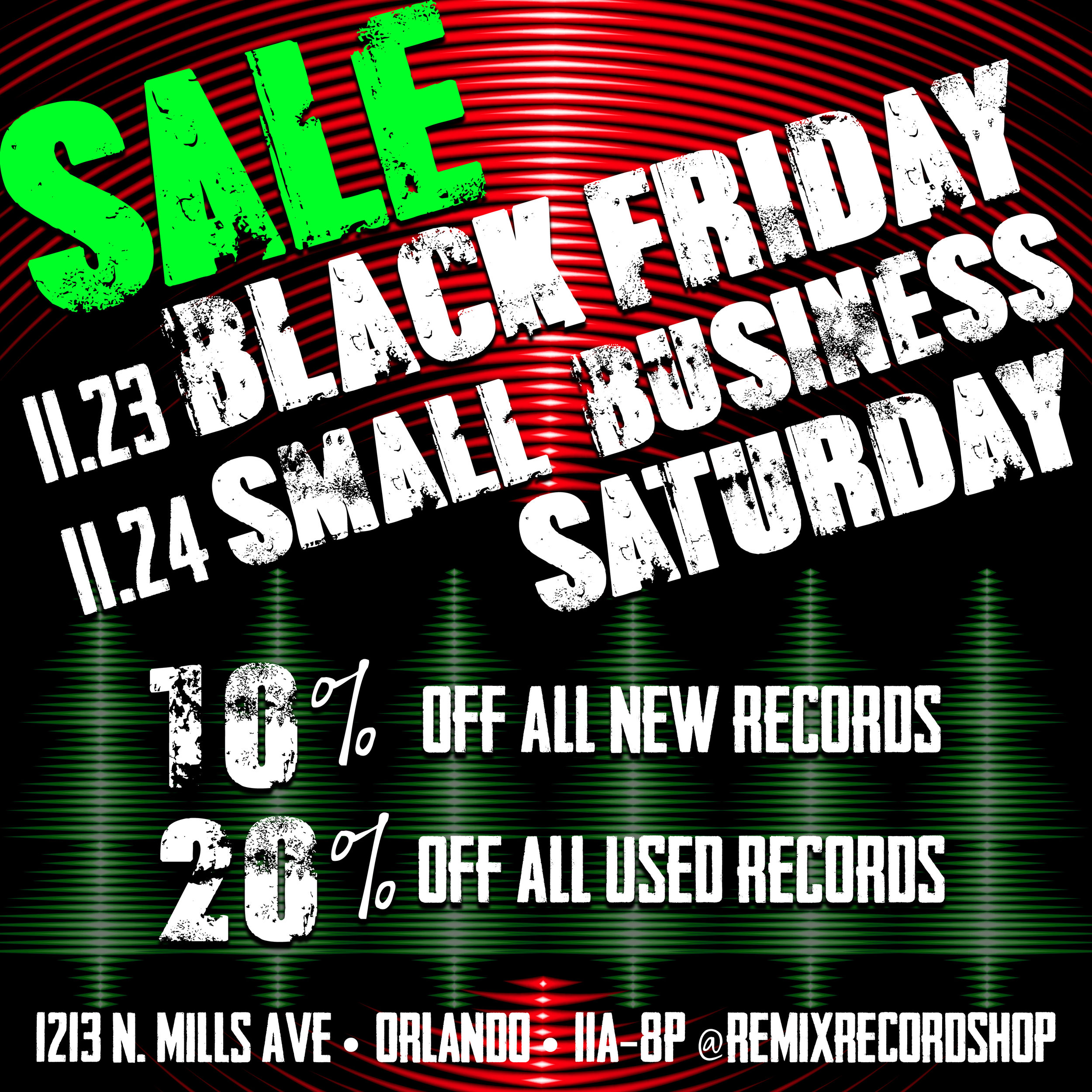 Black Friday & Small Business Sat 2018