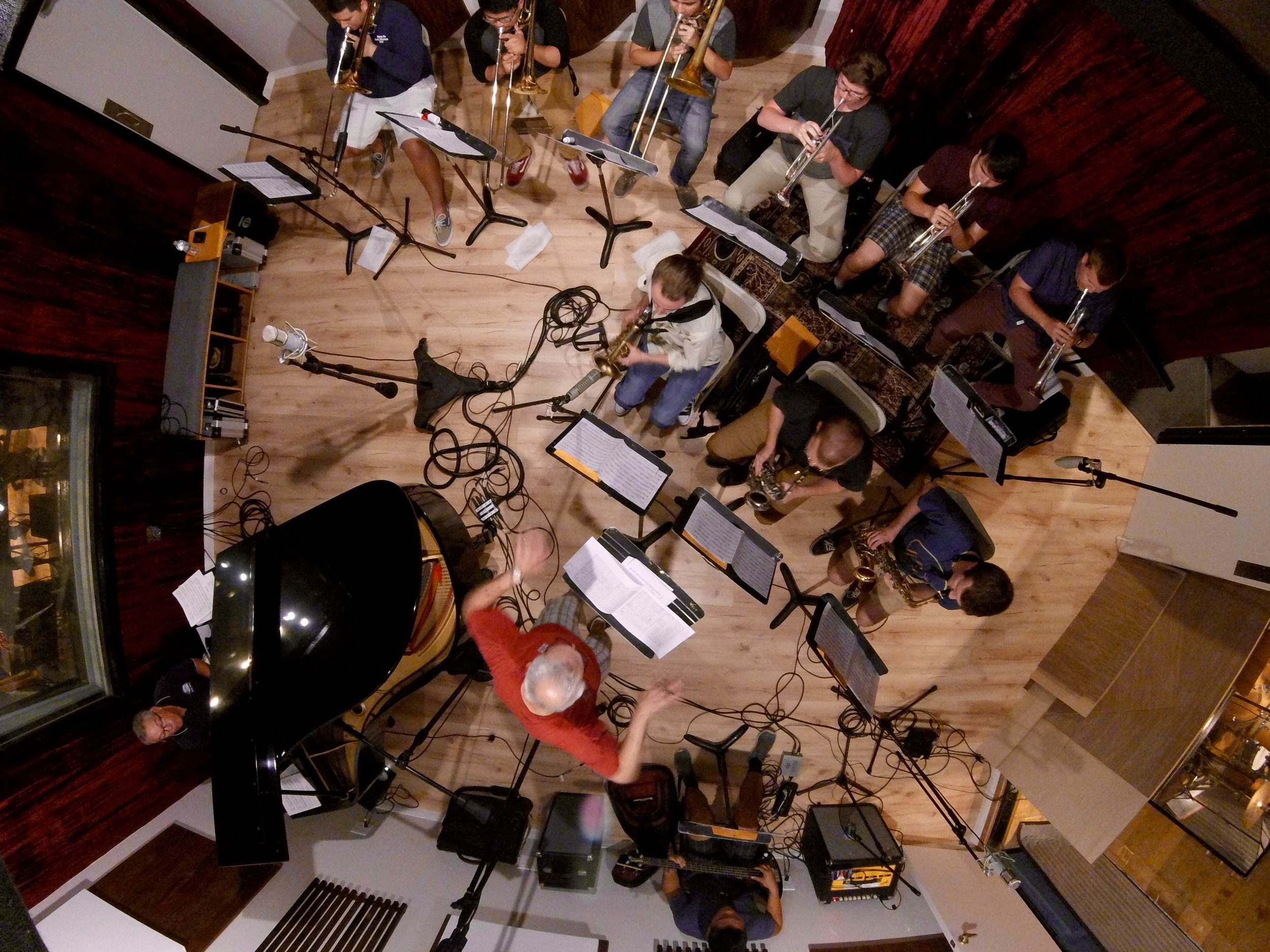 Honeytaps Big Band Recording Session (Photo by Chris Schlarb)