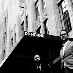 "DD Horns - DD Horns   ""On the debut from the quintet  DD Horns , the group infuses their music with a mix of laid-back nonchalance and celebratory spirit that's built for the heart of Saturday night."" -  Bandcamp   Produced by  Chris Schlarb   Mixed by  Howard Willing   Engineered by  Devin O'Brien     ITUNES   
