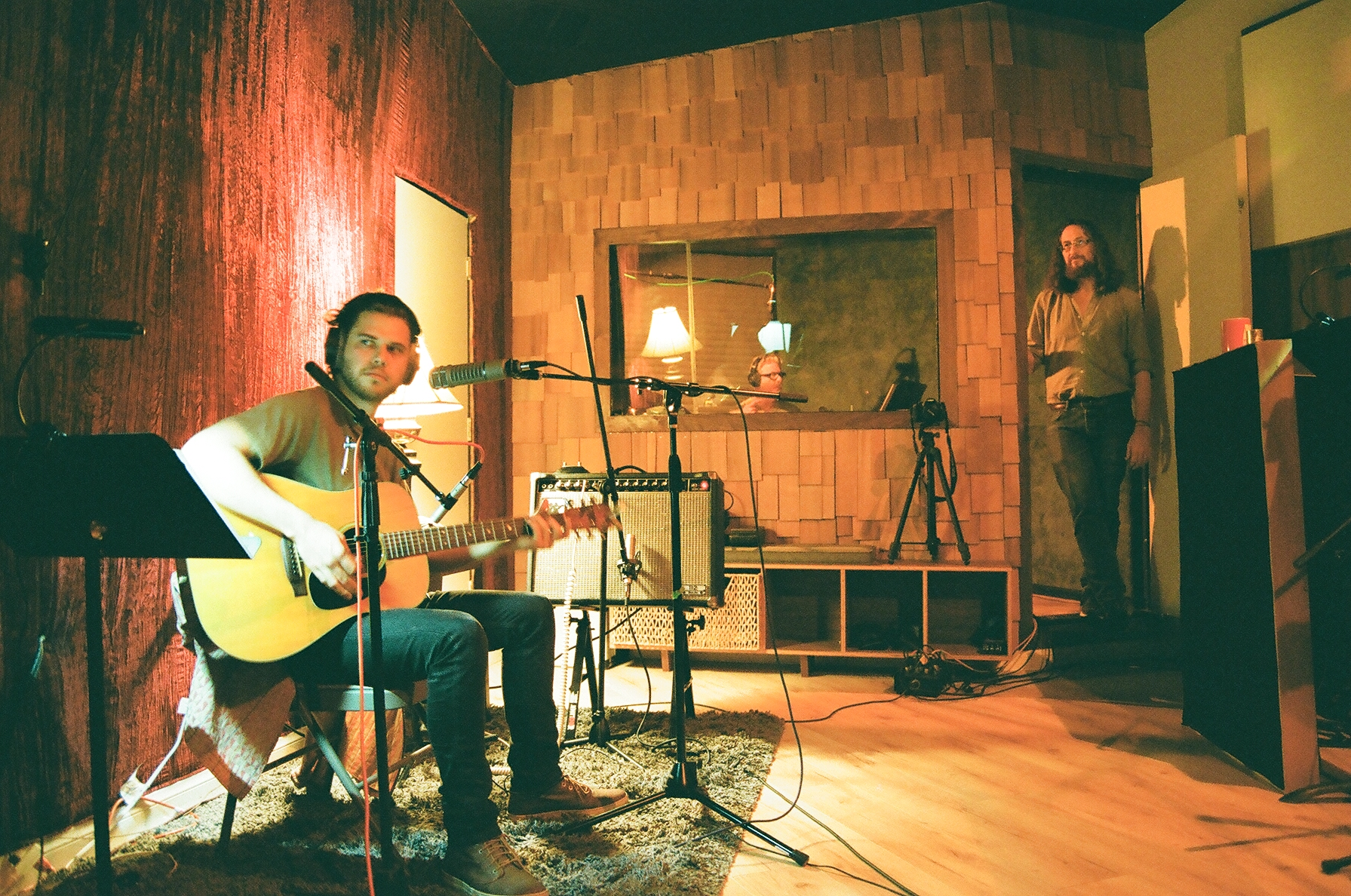 Singer/songwriter Chad Richard (Caleb Trask) and Chris Schlarb (Photo by Devin O'Brien)