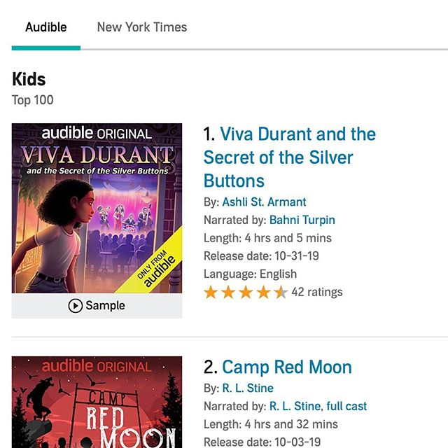 "We are very proud to have produced and recorded the #1 Best Selling Kids book on Audible for our friend, author, and bandleader Ashli St. Armant. We recorded a live band in the studio for many of custom music cues on ""Viva Durant"" and the project was produced by @psychictemple and mixed by @tristandolce. A four hour audiobook with live music, foley, and threaded narration is a huge undertaking and equally huge accomplishment. Congratulations to all involved! #vivadurant #ashlistarmant #audible #audibleoriginal #production #mixing #engineering #musicfrombigego"