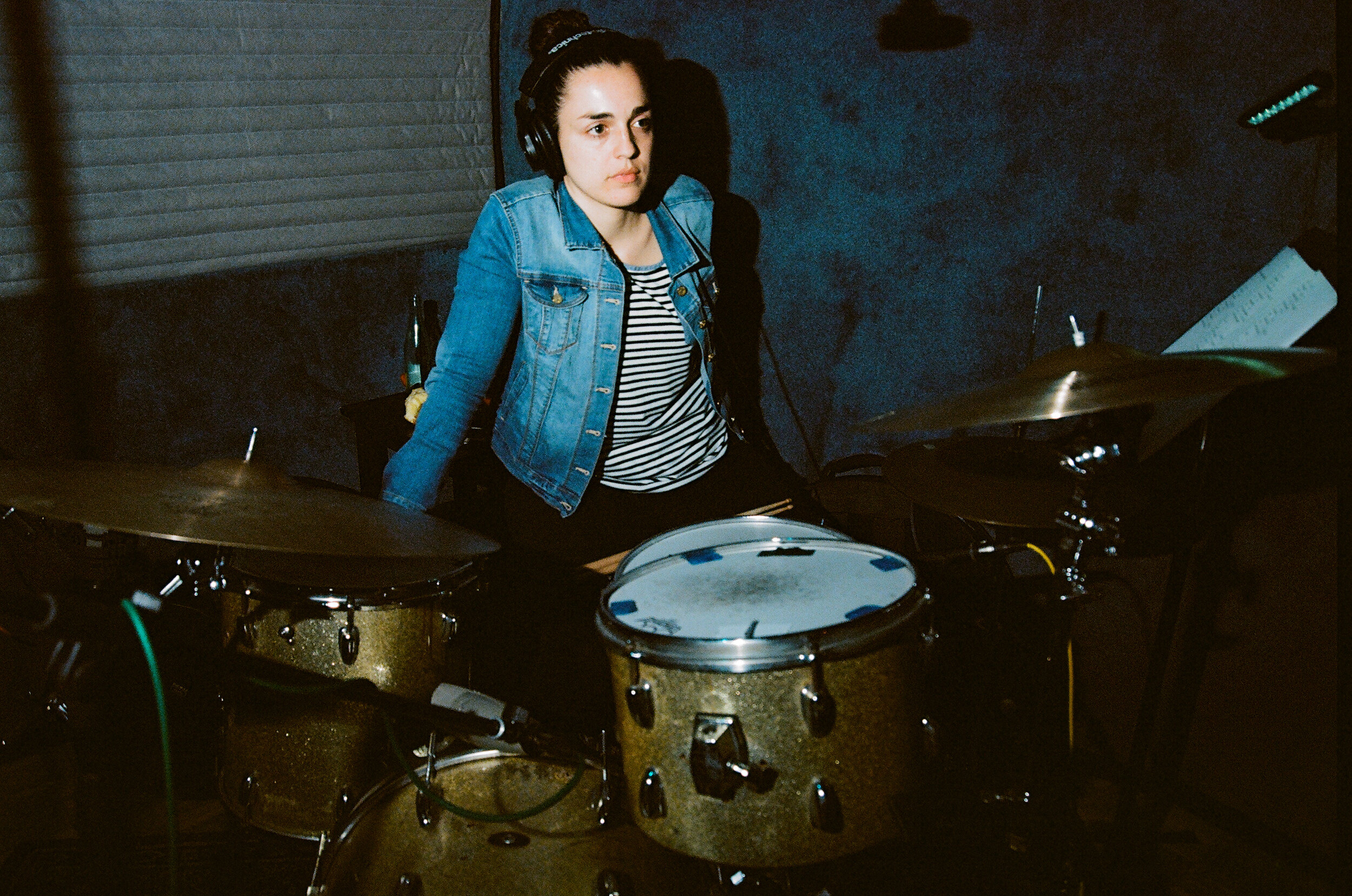 Drummer Ana Barreiro (Photo by Devin O'Brien)