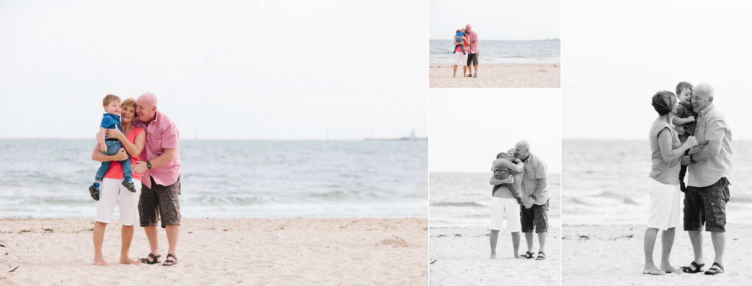 These grandparents were coming along to watch their daughter's family session on the beach - I insisted they jump in for some photos, and I am so glad I did!