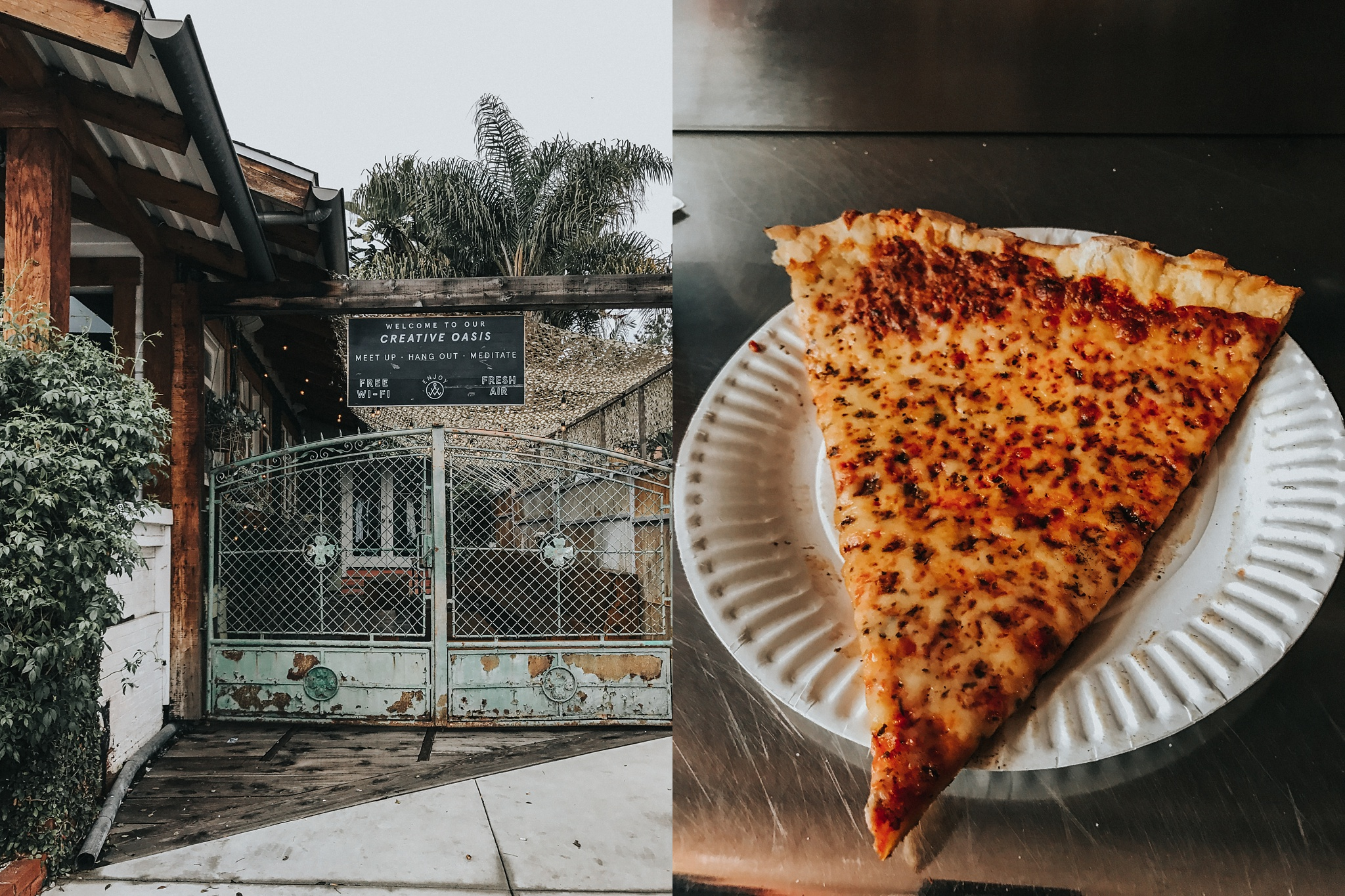 Took a wander and ate some Pizza the size of my face. Welcome to 'Merica.