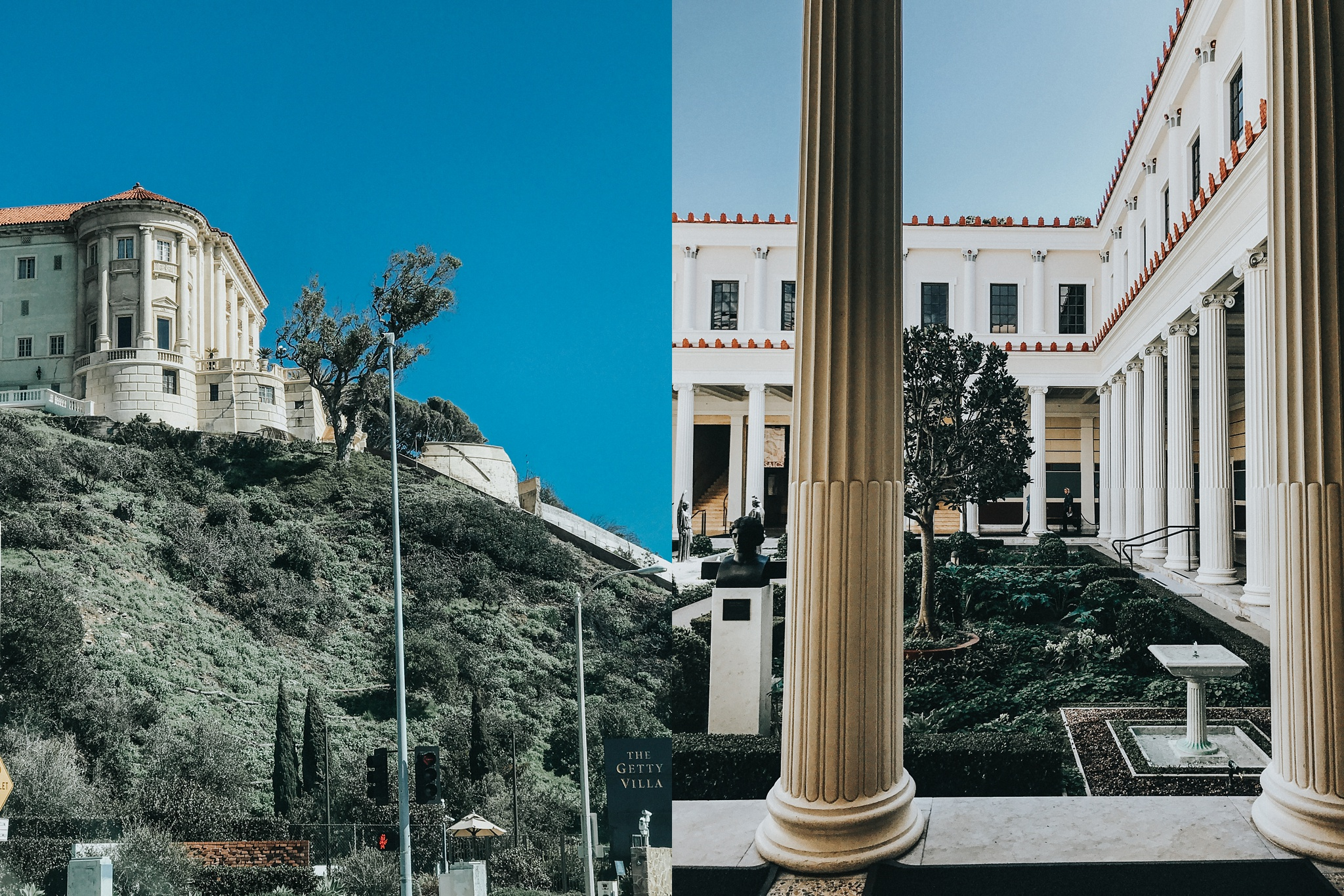 Next stop, heading back towards LA, I stopped at the Getty Villa which wasn't initially on my itinerary but I was SO glad I went. It was STUNNING.