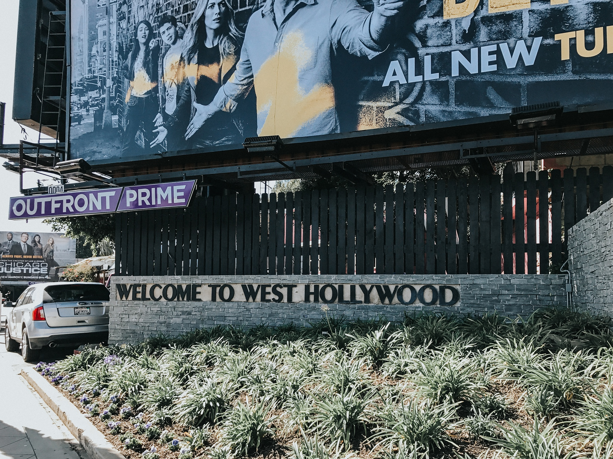 """After the Getty, I drive across to West Hollywood for a wander and a little """"artwork""""."""