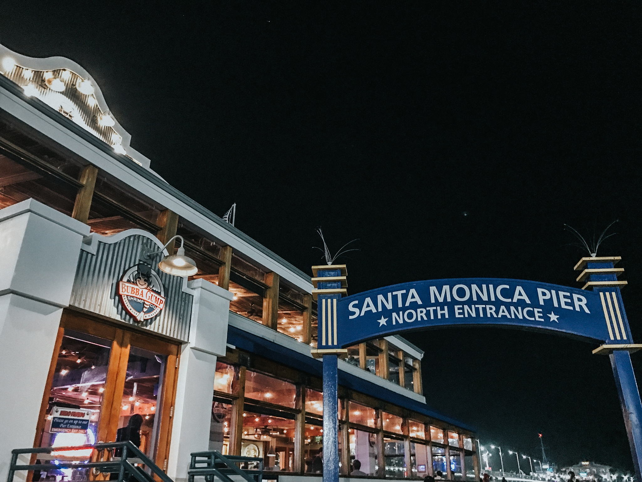 Full of courage/adrenaline from 2.5 hours of tattoo, I decided to take on Santa Monica Pier at night.