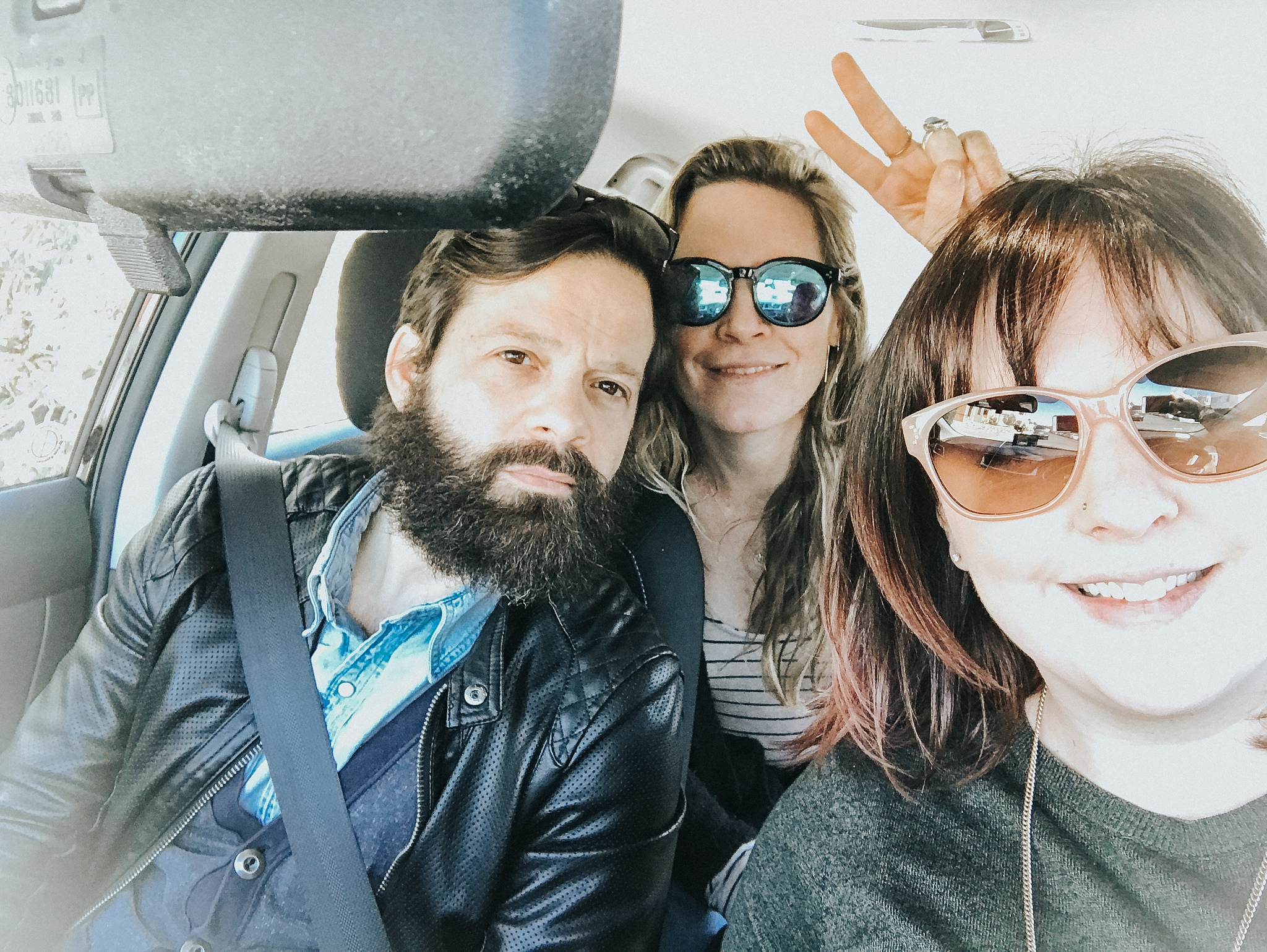 Theirry and Cathlin - the best roadtripping buddies.