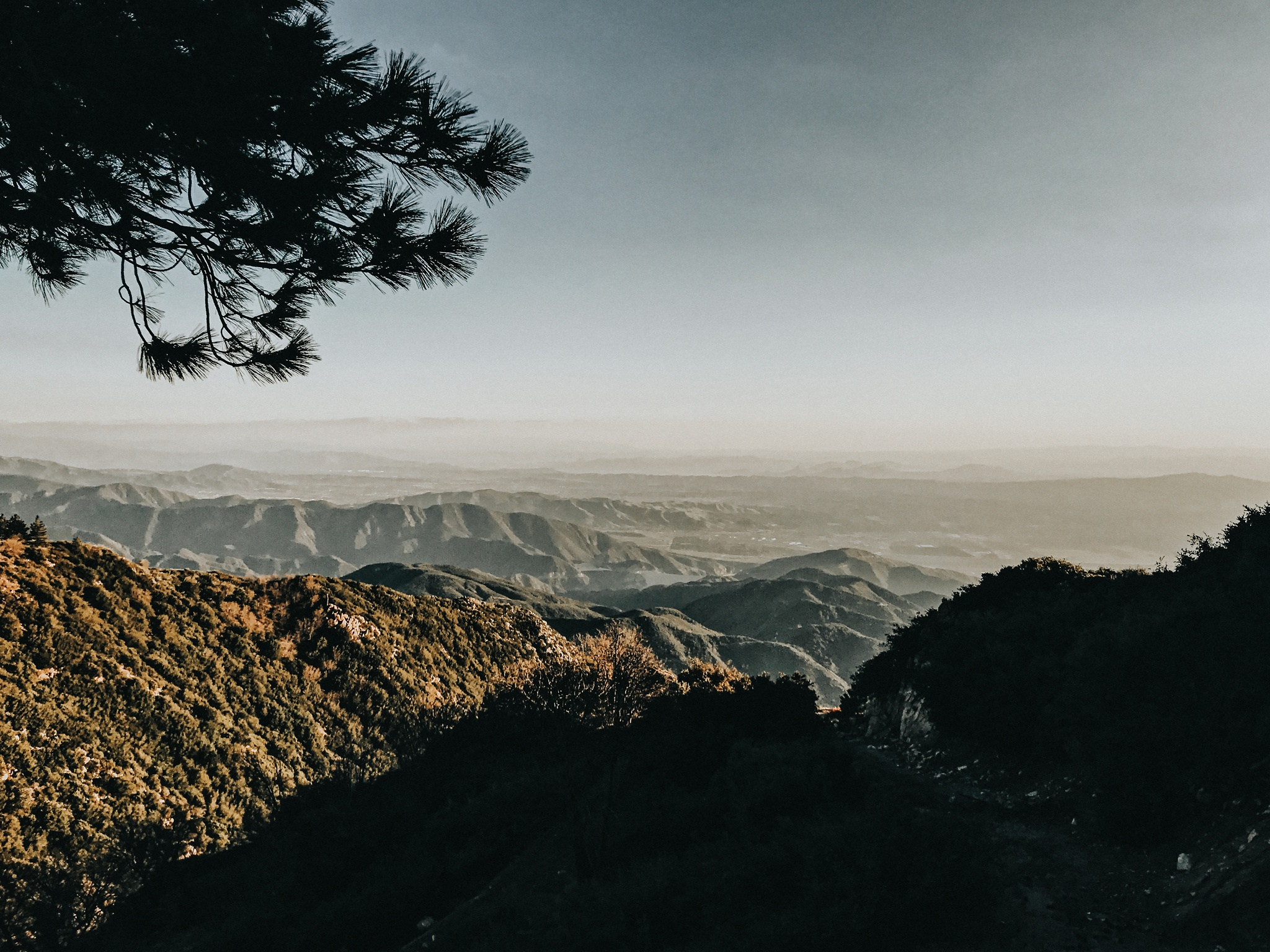 The incredible view from Running Springs, CA.