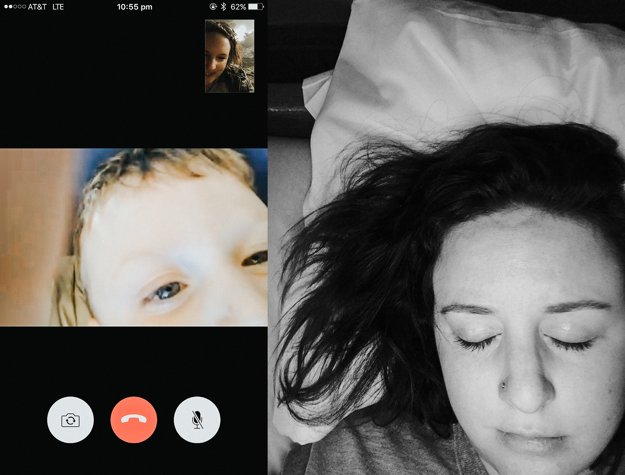 Drunk skyping with my babe, and ready to pass out. Too much everything.