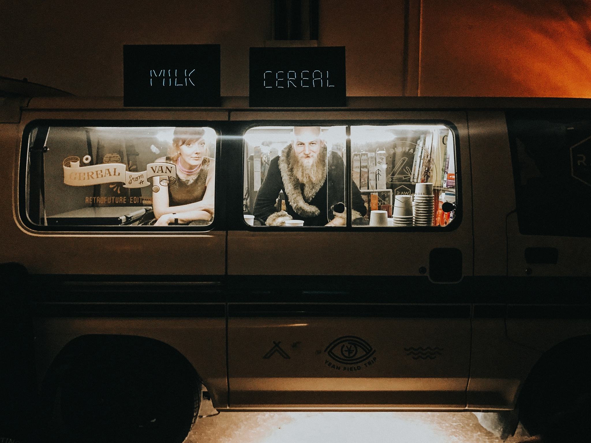 Every good party should have a cereal van.