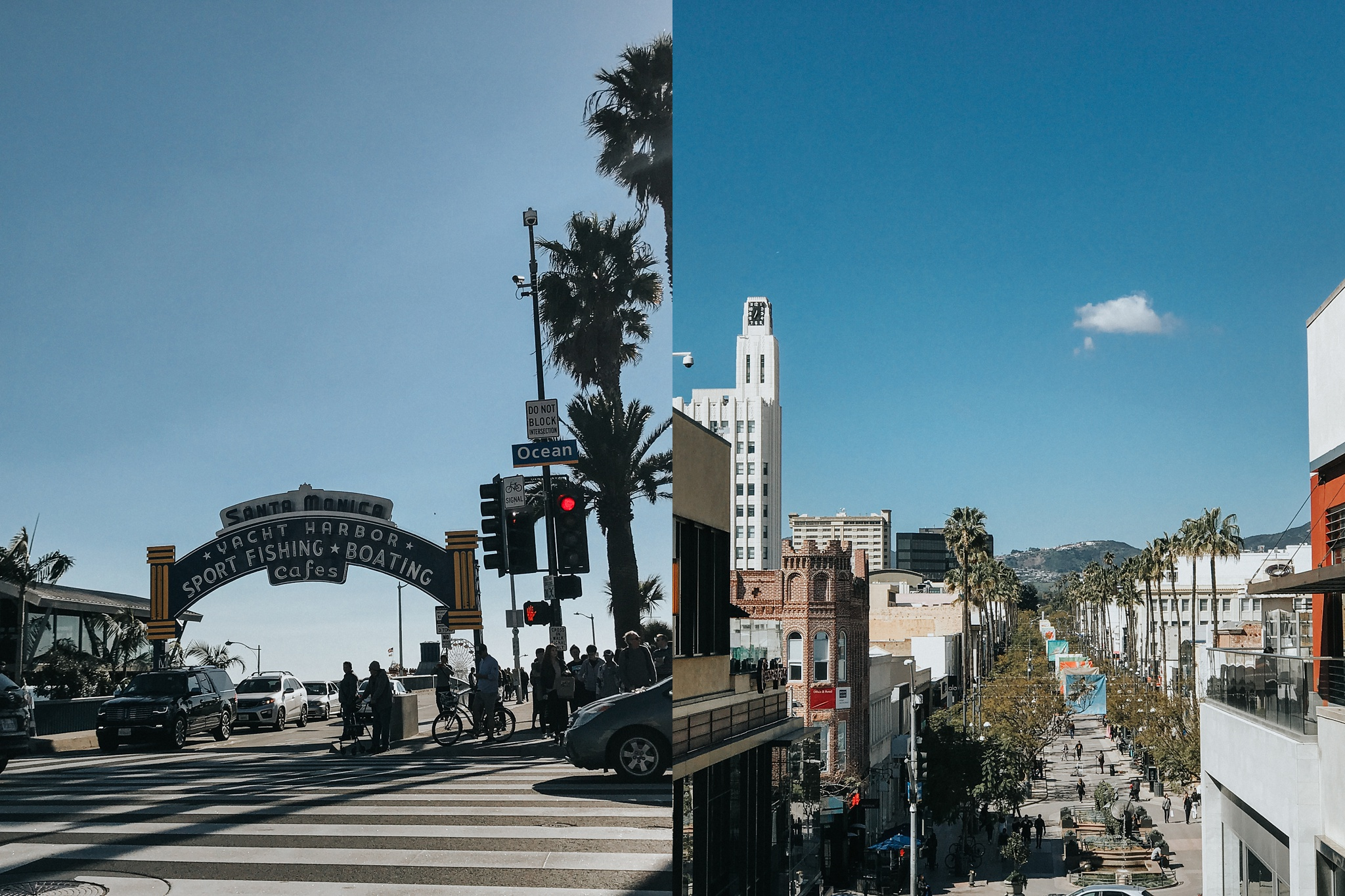 Santa Monica on a blue day is stunning.
