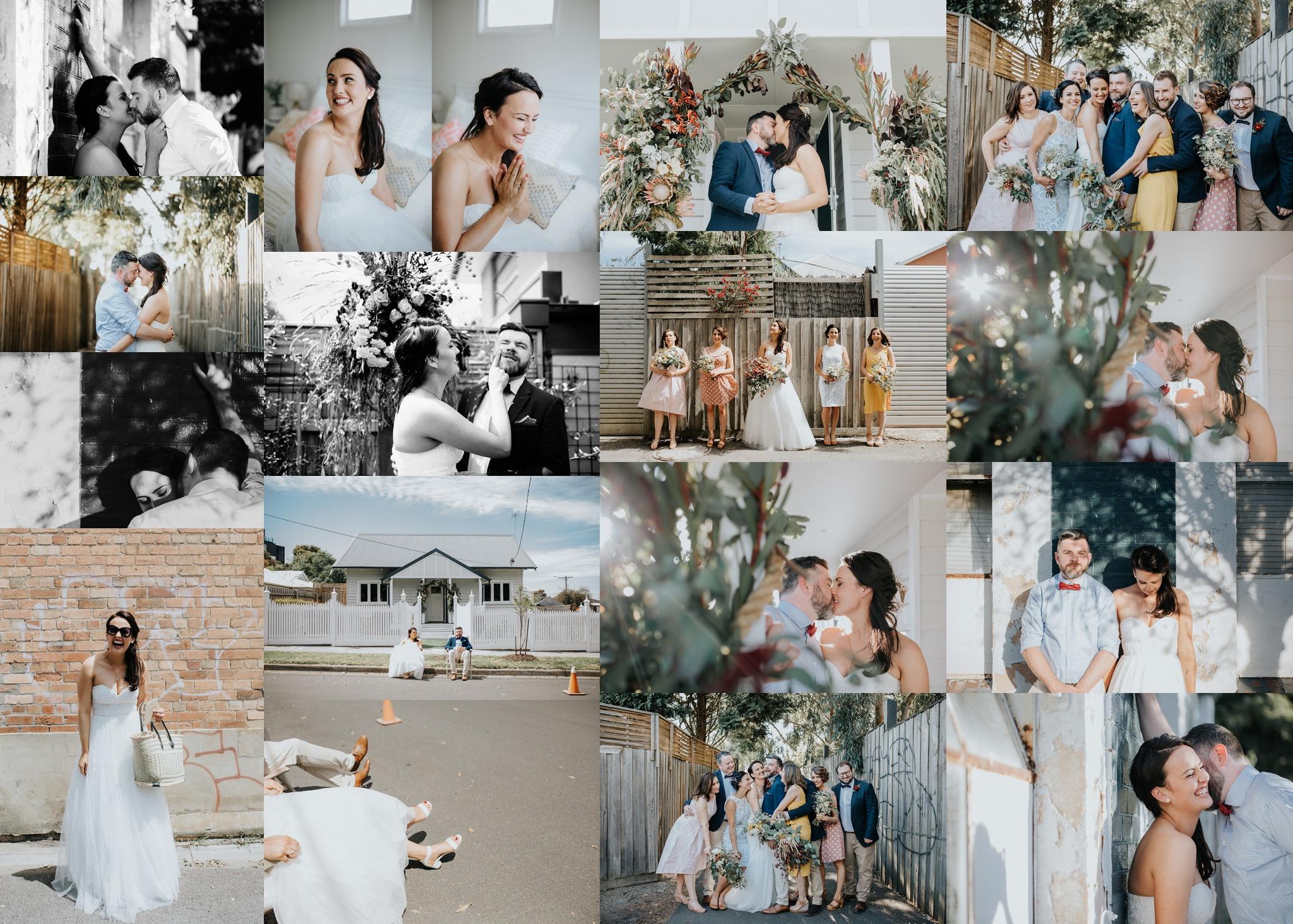 Em + Andy's Preston Wedding at home