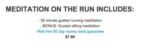 Learn more at  meditationontherun.com , or visit this   iTunes   link to purchase.