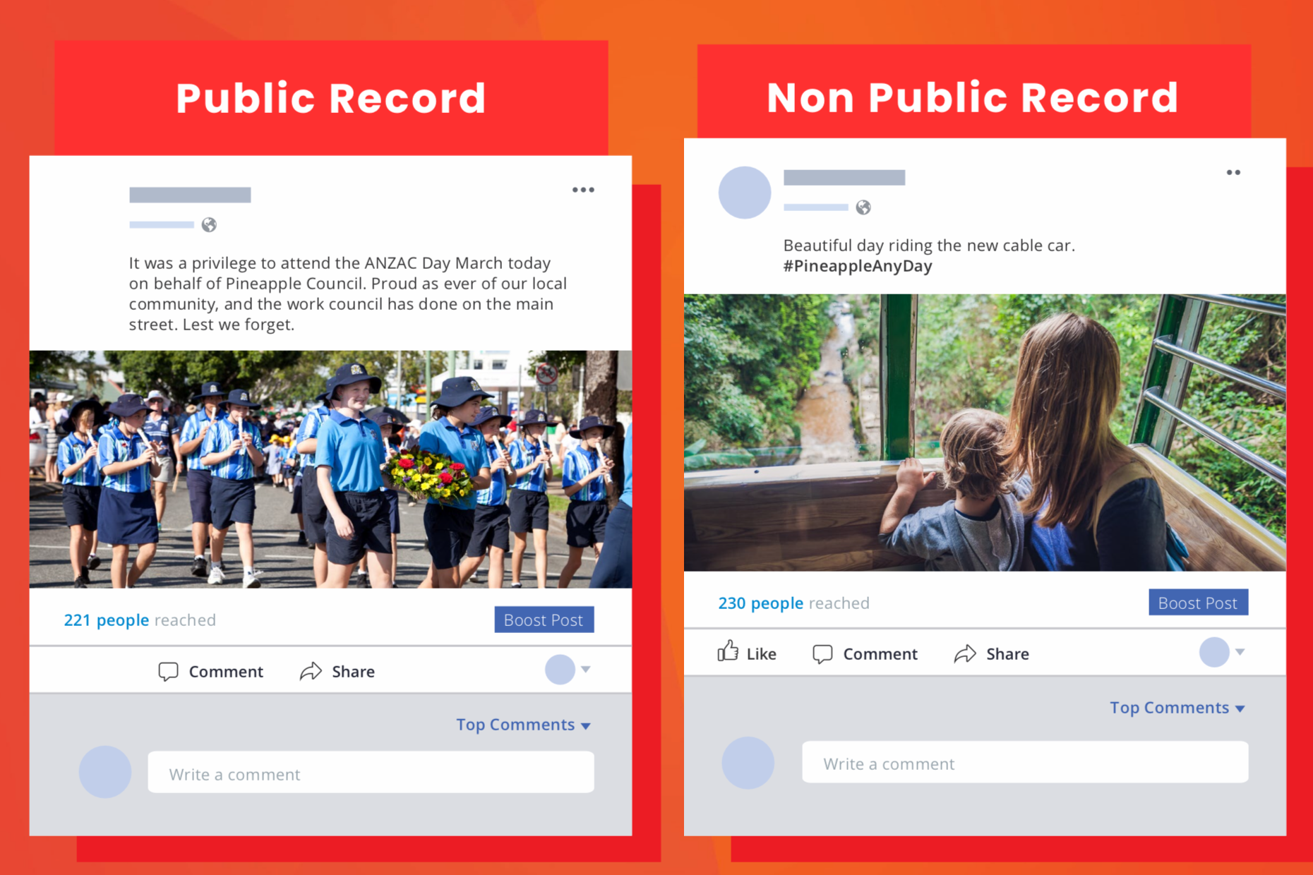 Public Record example post from   Your Social Media and You: A guide for elected council members in Queensland   .