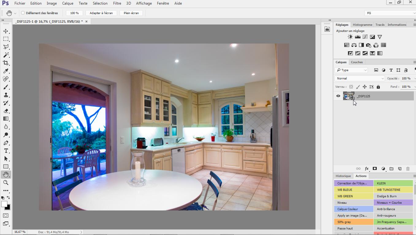Image ouverte dans Photoshop sous forme d'objet dynamique