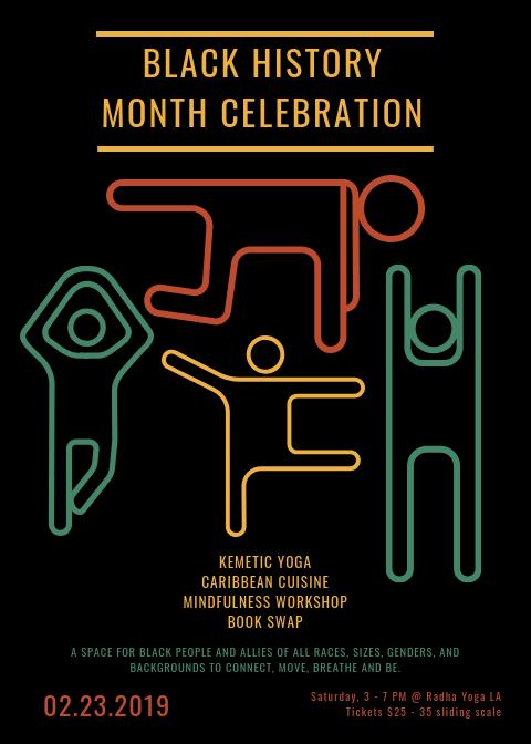 Black History Month Celebration! - Feb 23rd — Radha Yoga