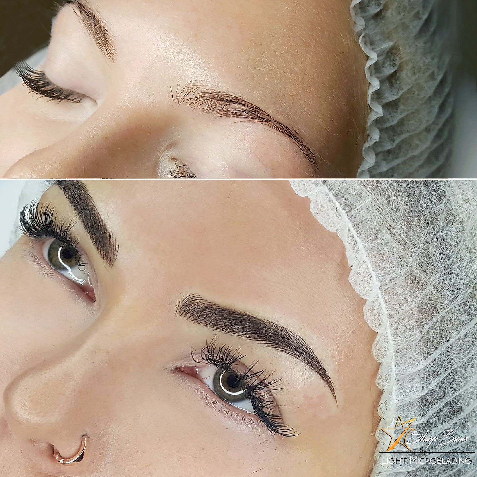 Light microblading does not only change the shape and texture of brows. It changes the whole face and clients become literally even prettier than they were before.