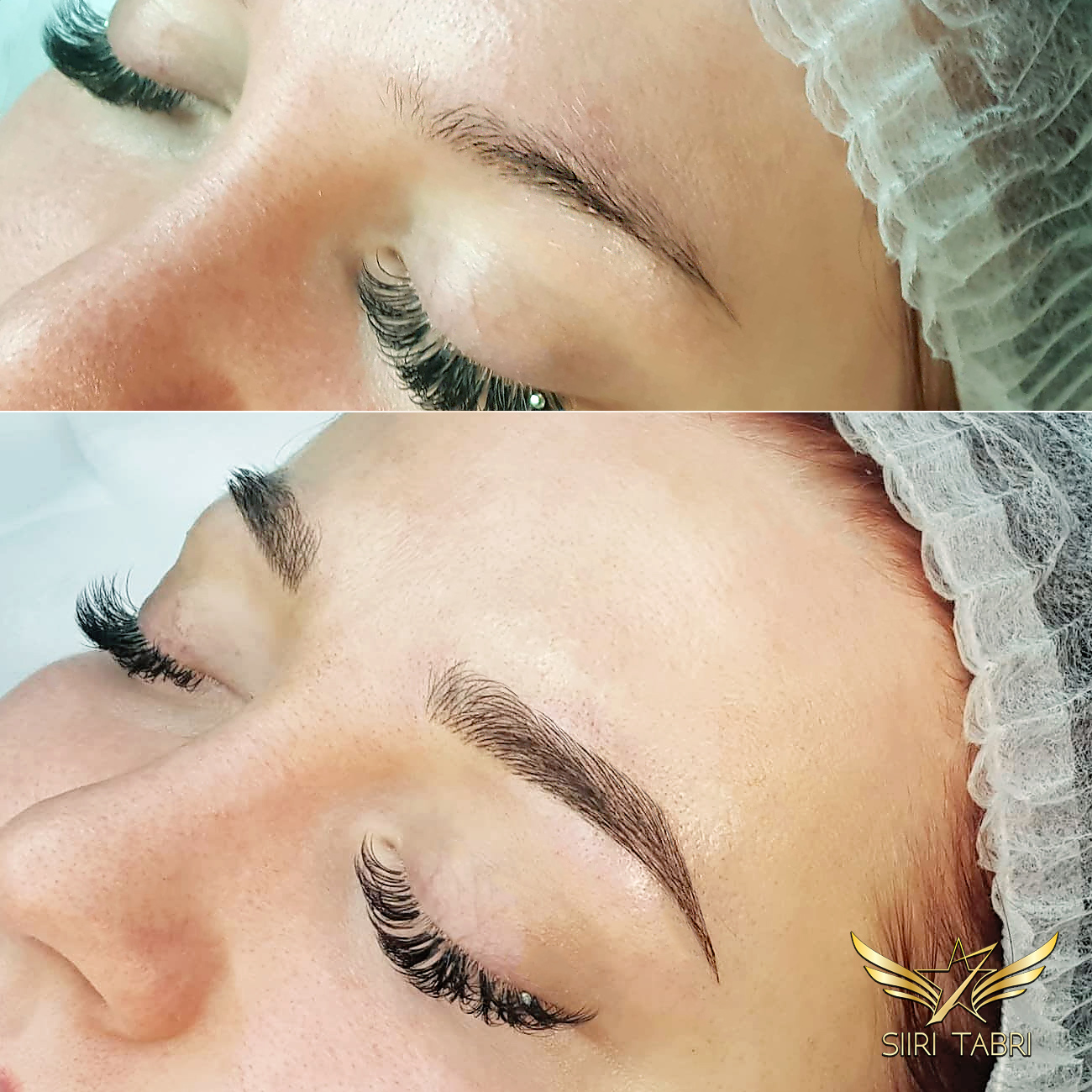 Light microblading. Very thin brow turned into lush and excellent with SharpBrows Light microblading technique.
