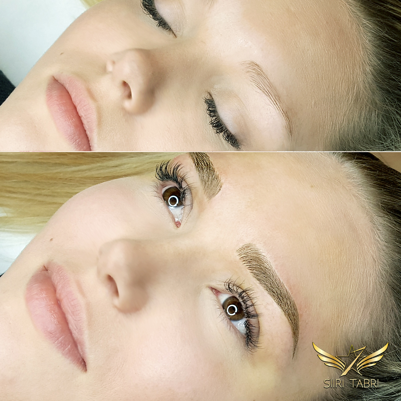 SharpBrows Light microblading. Incredible change with microblading made in the correct manner.