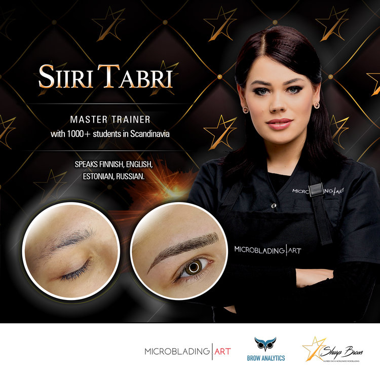 here you can see just a tiny selection of the brows made by Master Siiri Tabri, who is the co-inventor of Light Microblading and author and/or co-creator of all major brow-patterns used in Euurope.