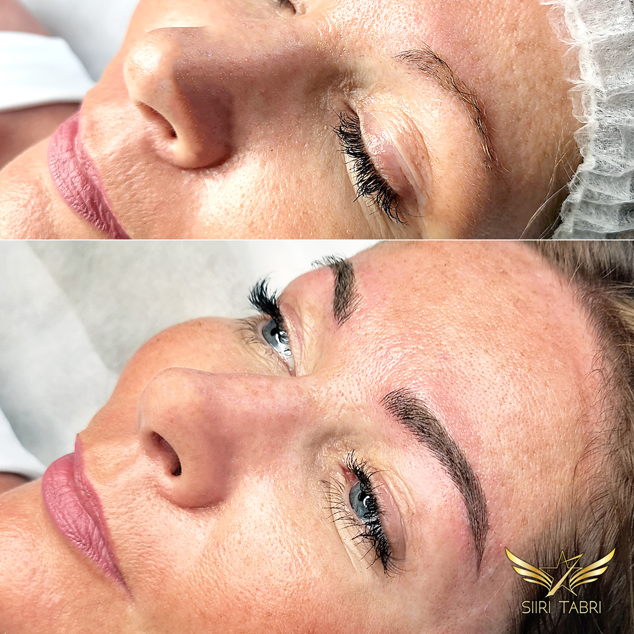 SharpBrows Light microblading. Weak brows turned into natural and fabuolous again with Light microblading.