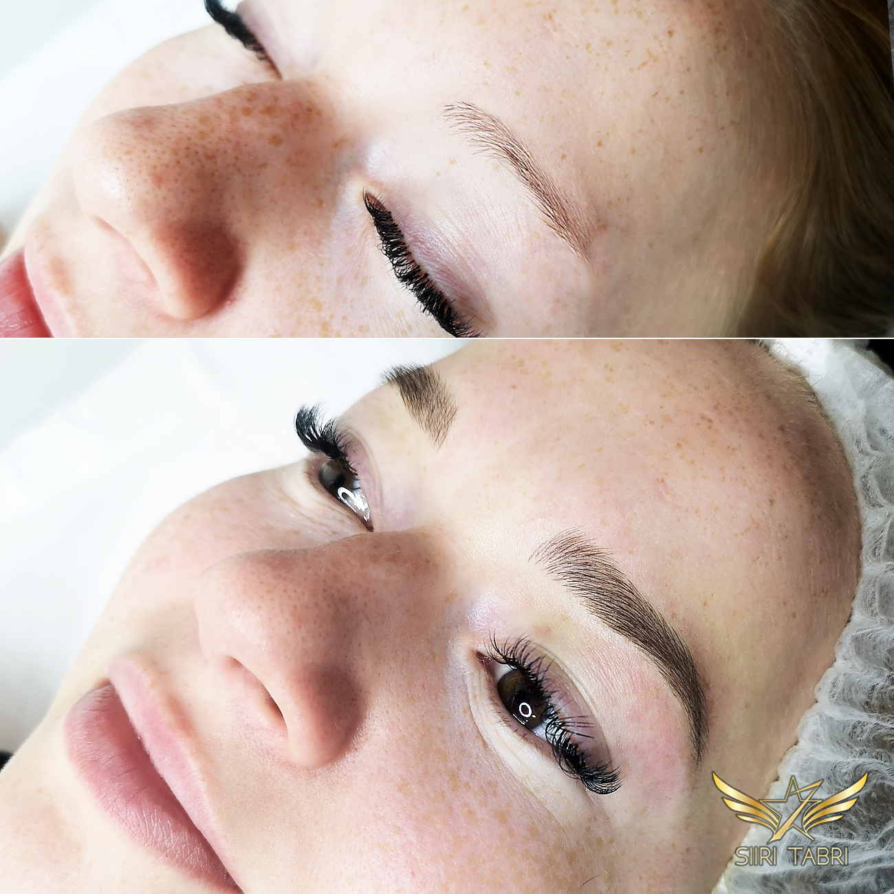 Light microblading. The client was so excited that she almost cried tears of happiness.