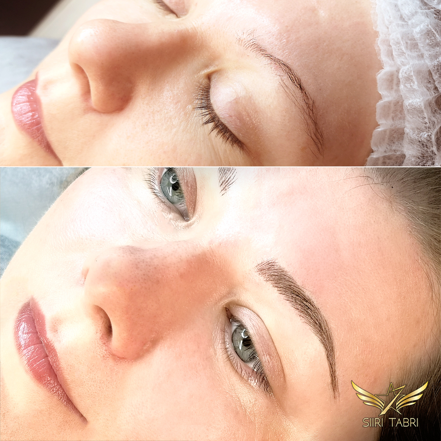 Light microblading. Another pair of beautiful brows from a very weak starting situation with the help of Light microblading.