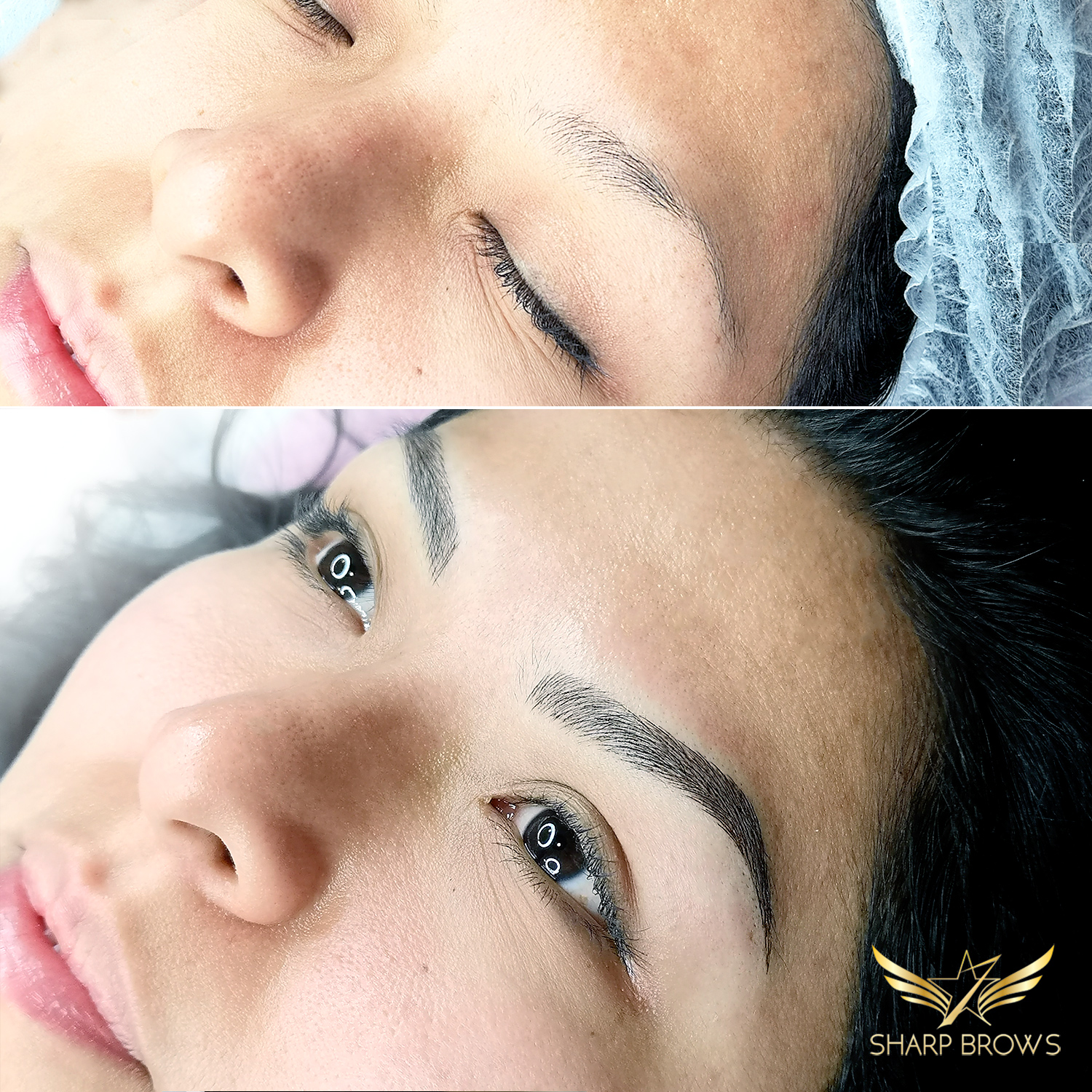 Light microblading. This beautiful lady became even more beautiful with new brows.