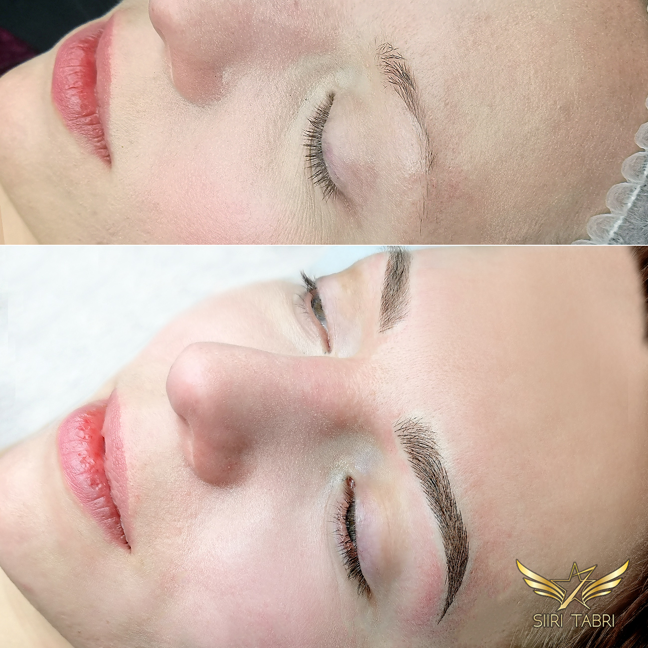Light microblading. Just another pair of beautiful Light microblading brows. What a change.