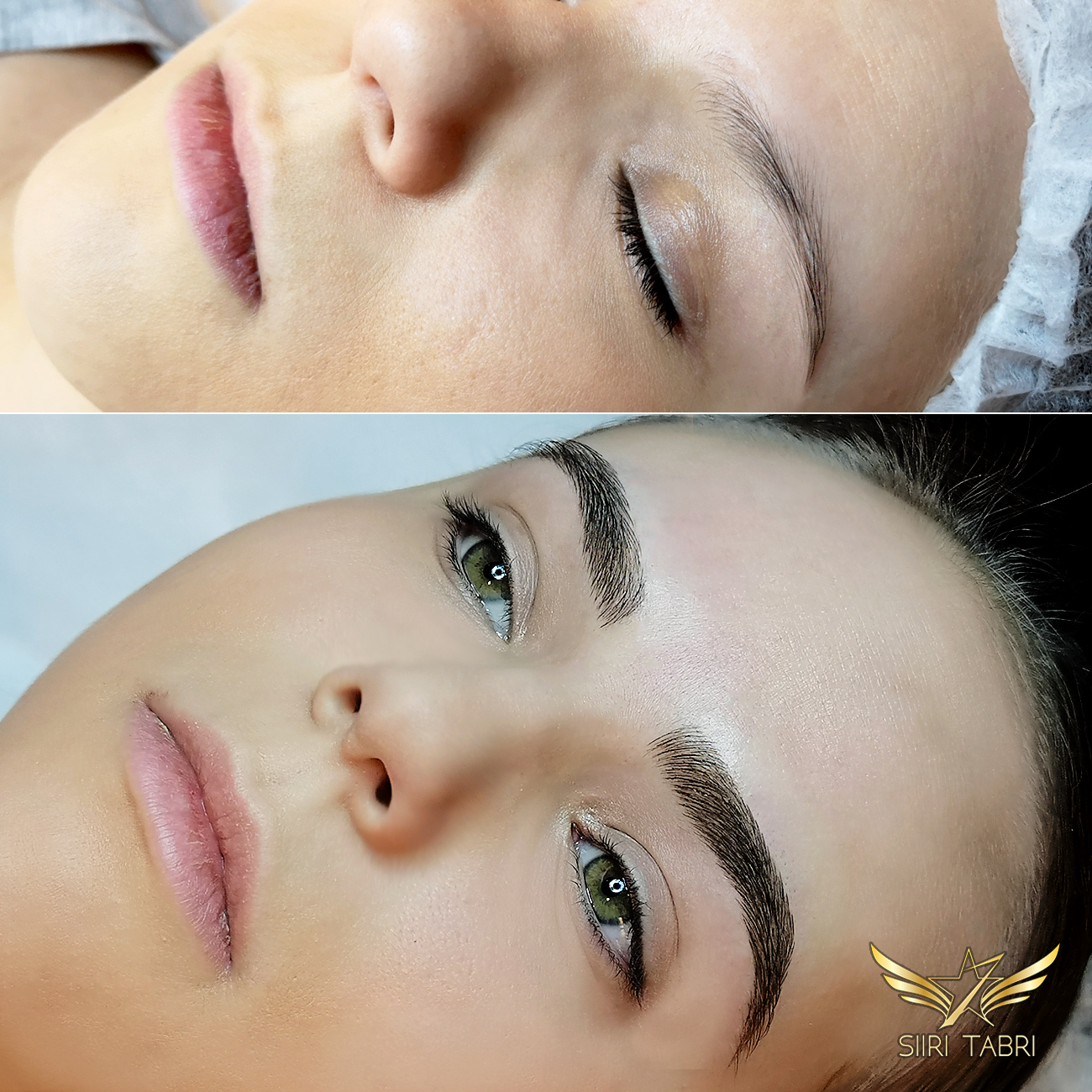 Light microblading. What an incredible change! Re-shaped and re-formed with Light microblading.