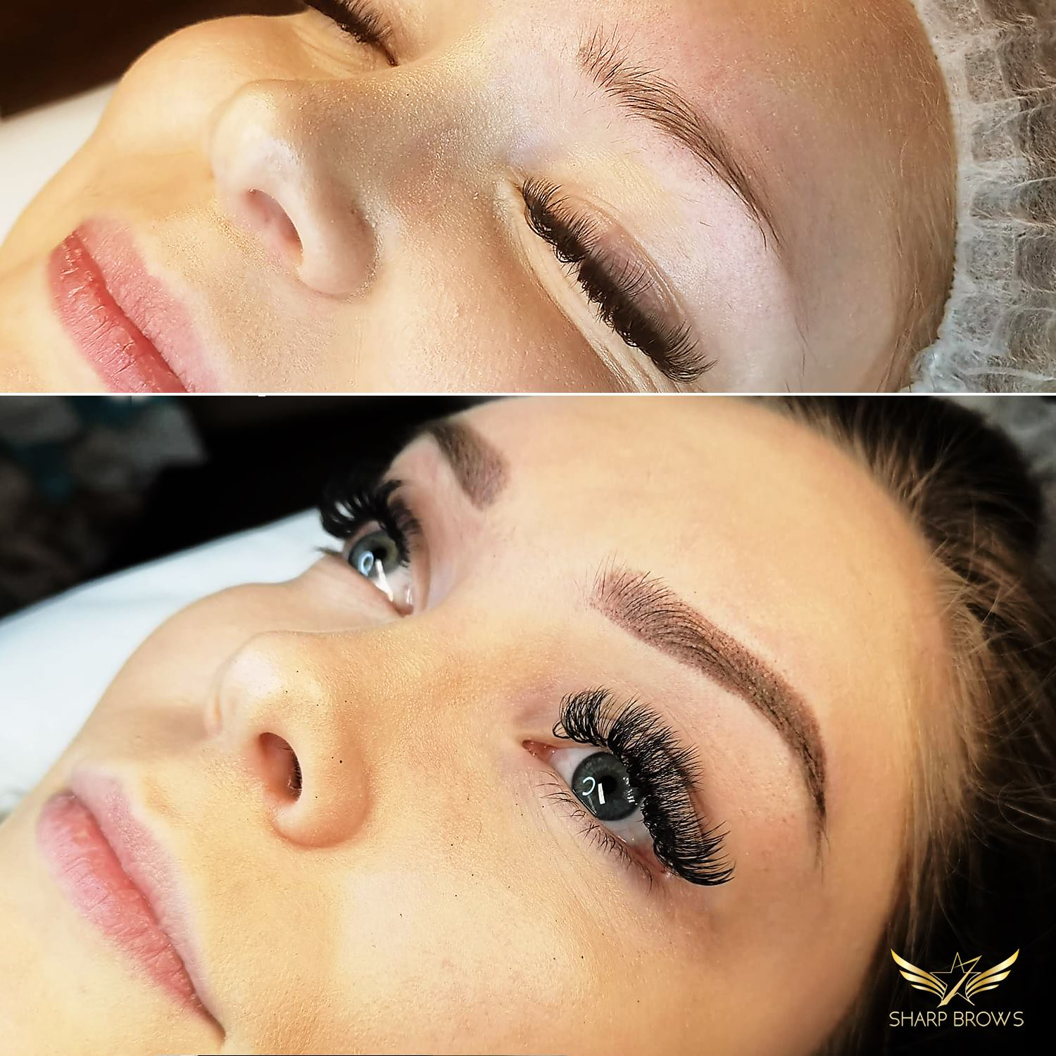 Light microblading - Incredible new brows instead of weak set the client head before.