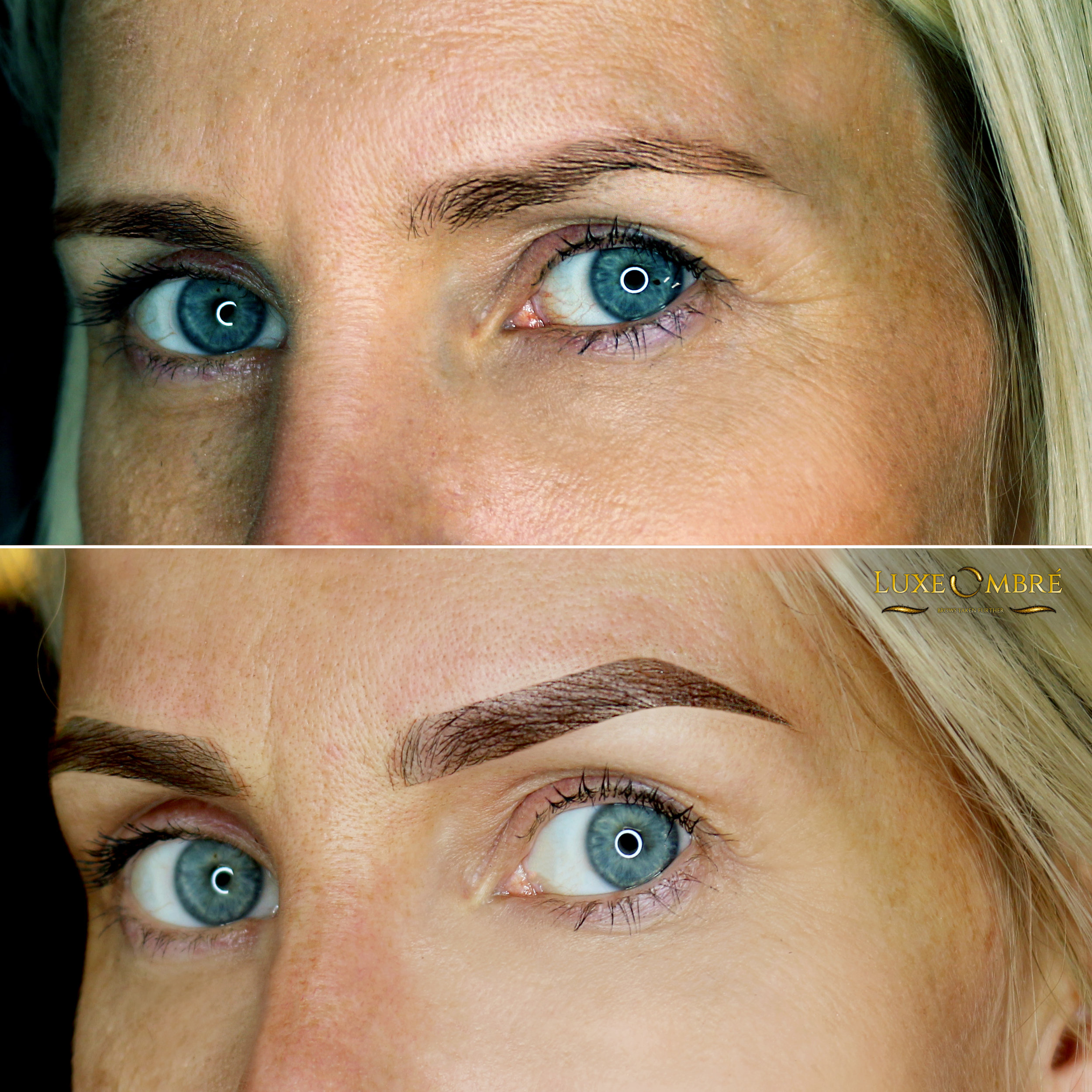 LuxeOmbre brows created on top of ordinary brows.