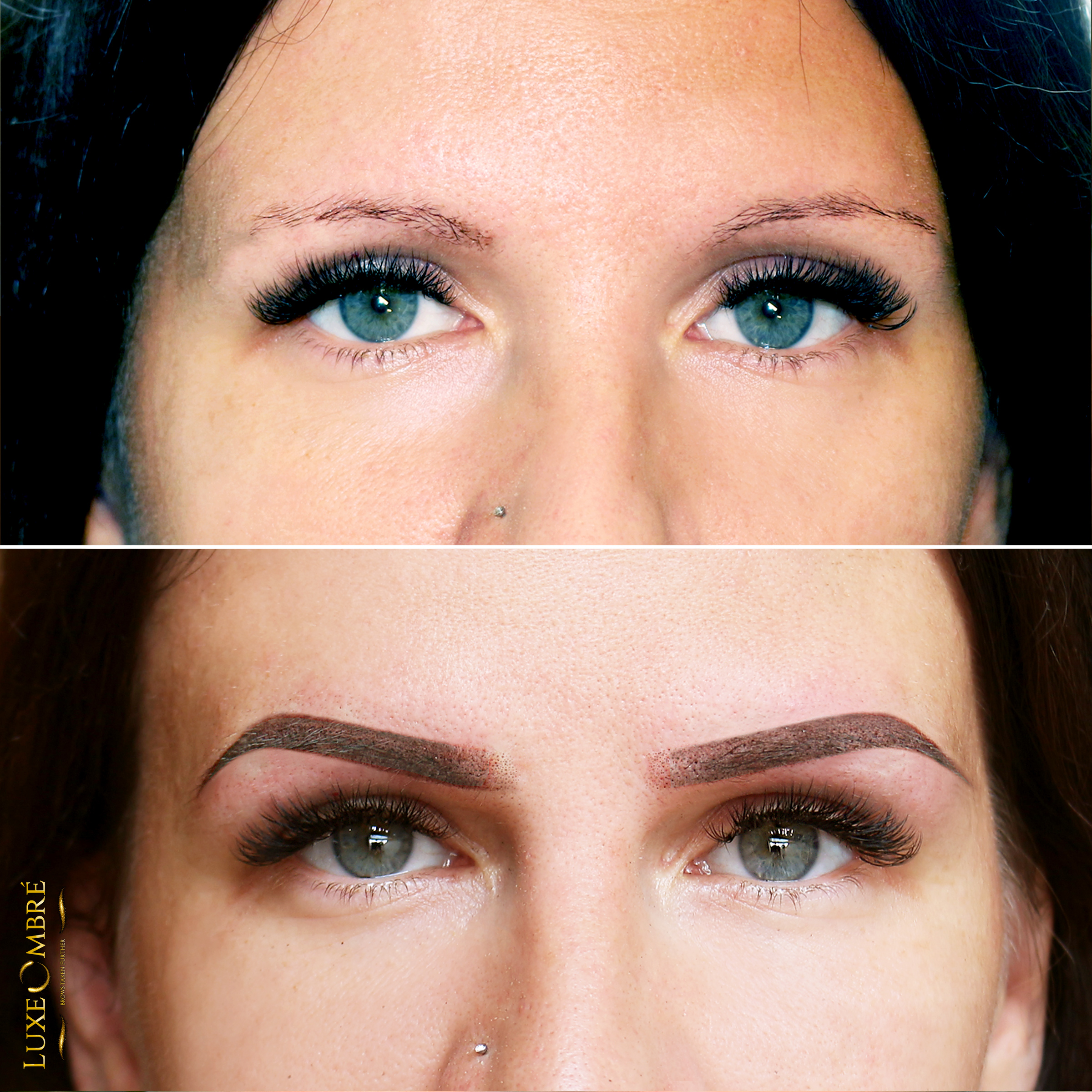 LuxeOmbre brows created on top of quite weak and thin brows.