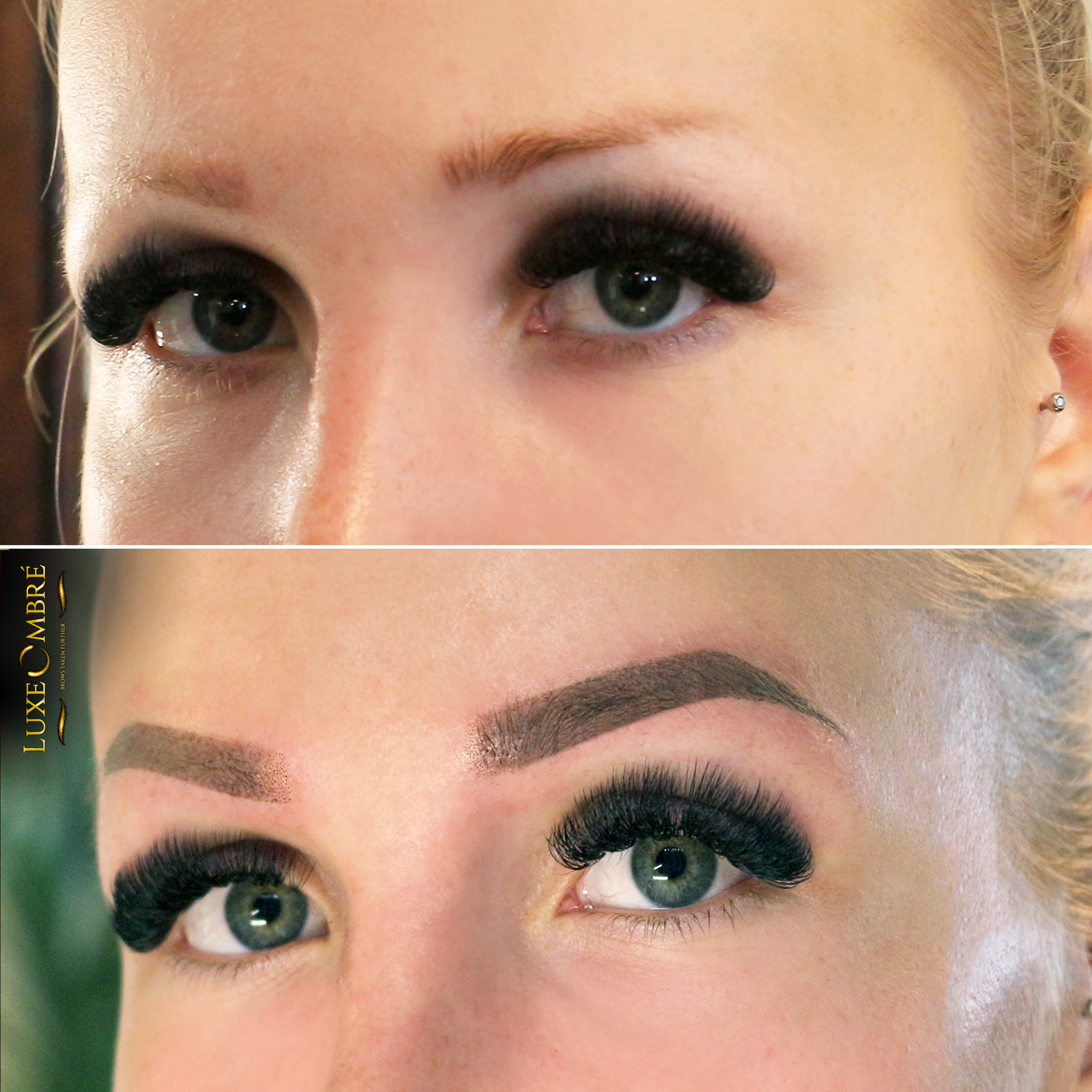 Weak and small brows turned into lush and natural.