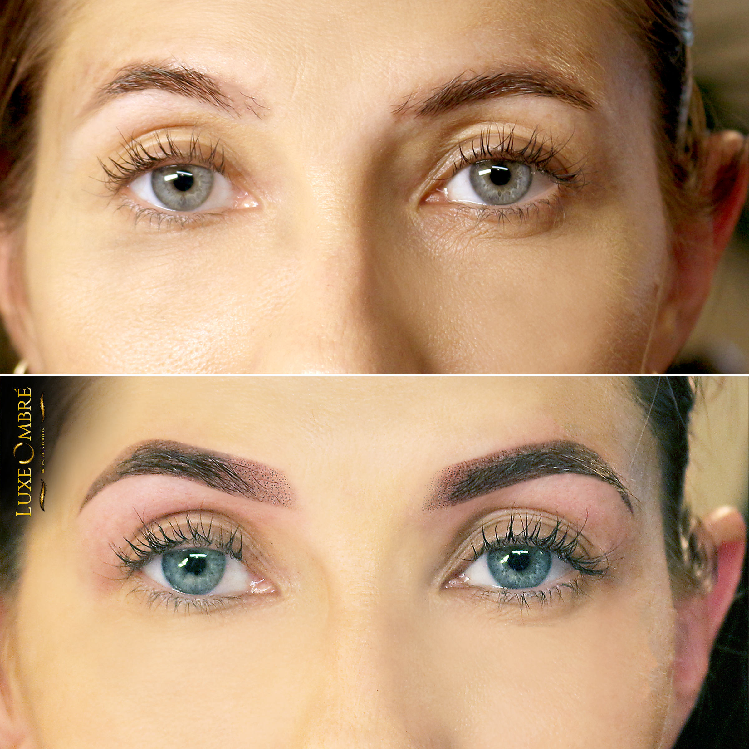 Ordinary brows turned into amazing with the help of LuxeOmbre.