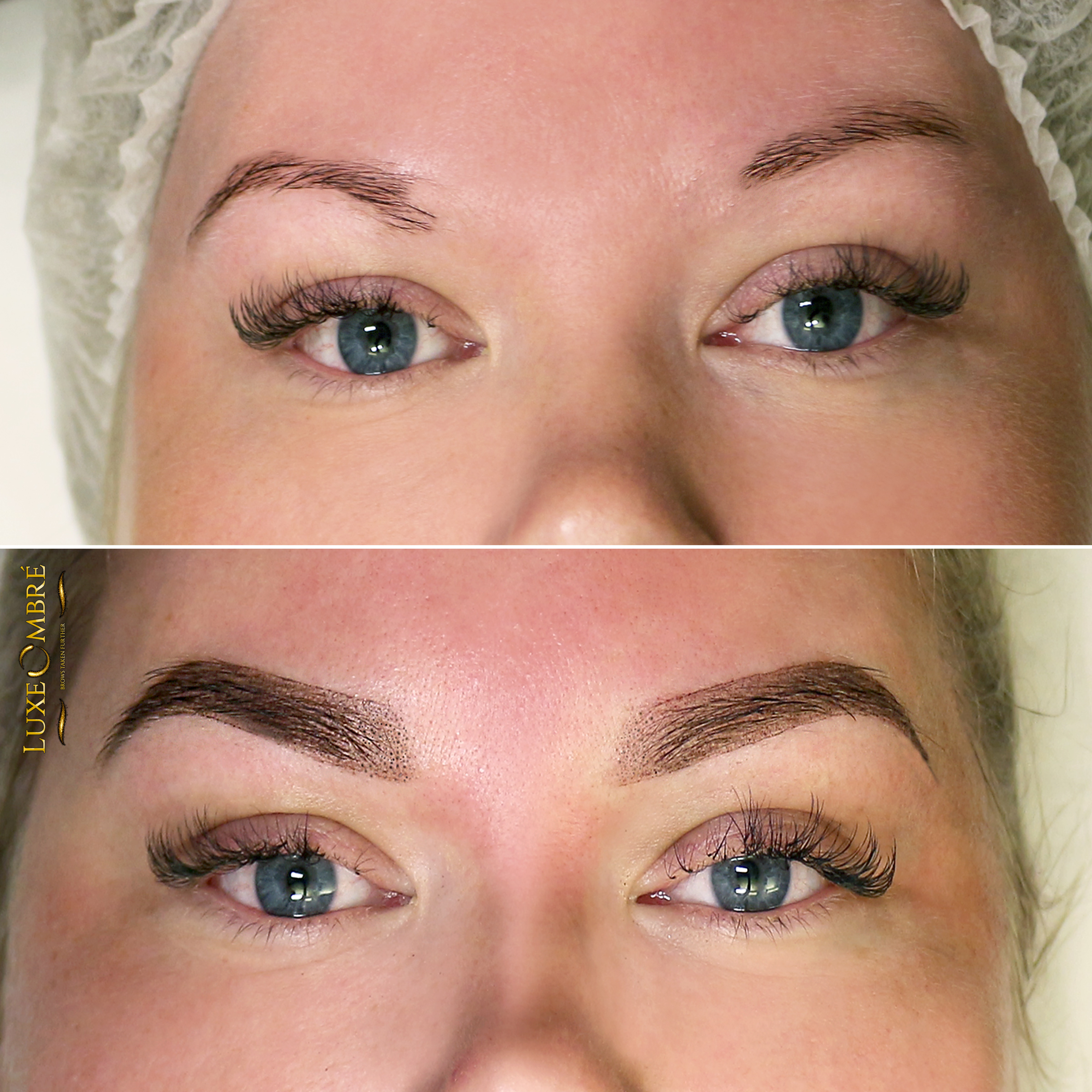 LoxeOmbre saving a pair of brows once again. From ordinary and asymmetric to beautiful.