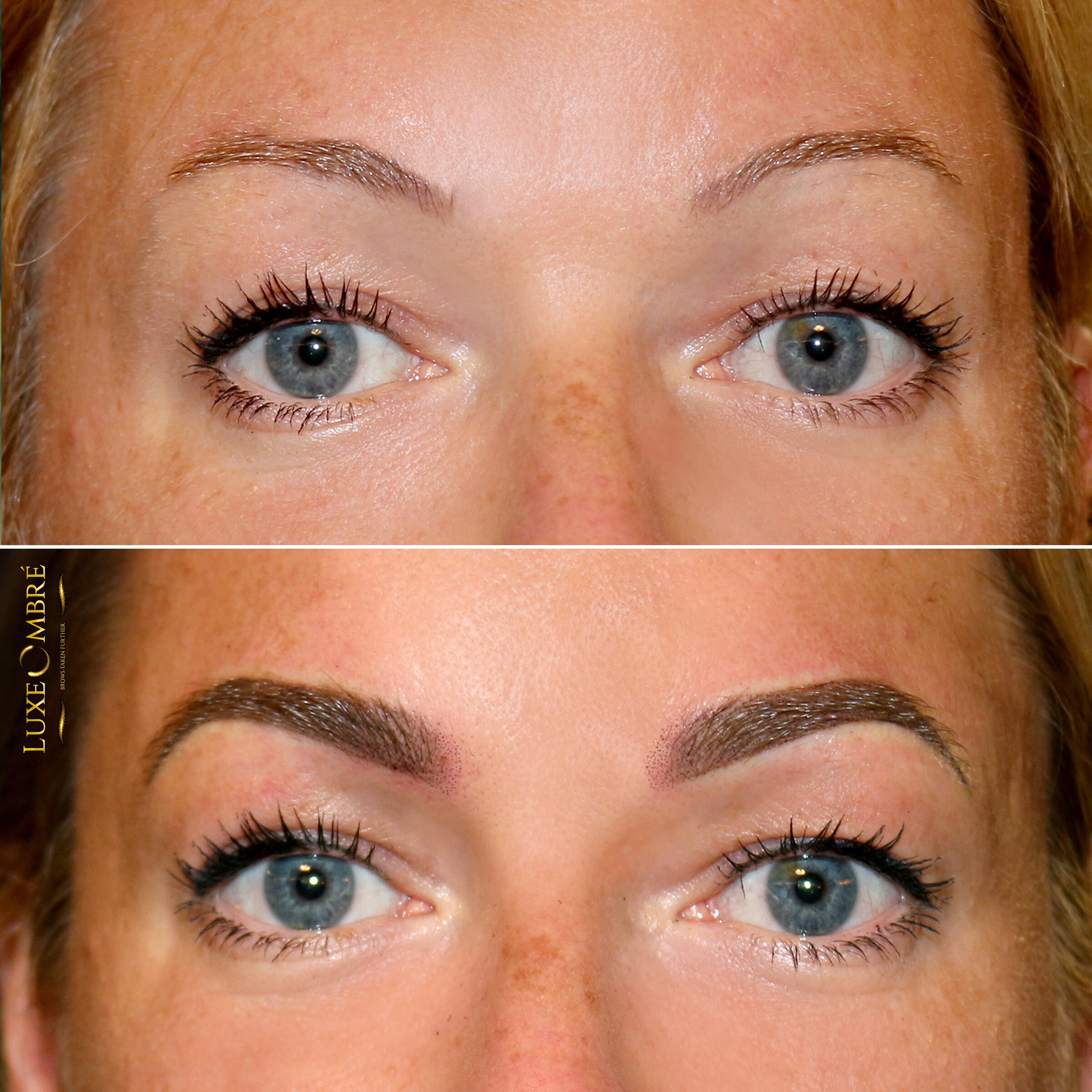 Little brows turned to natural and beautiful with LuxeOmbre.