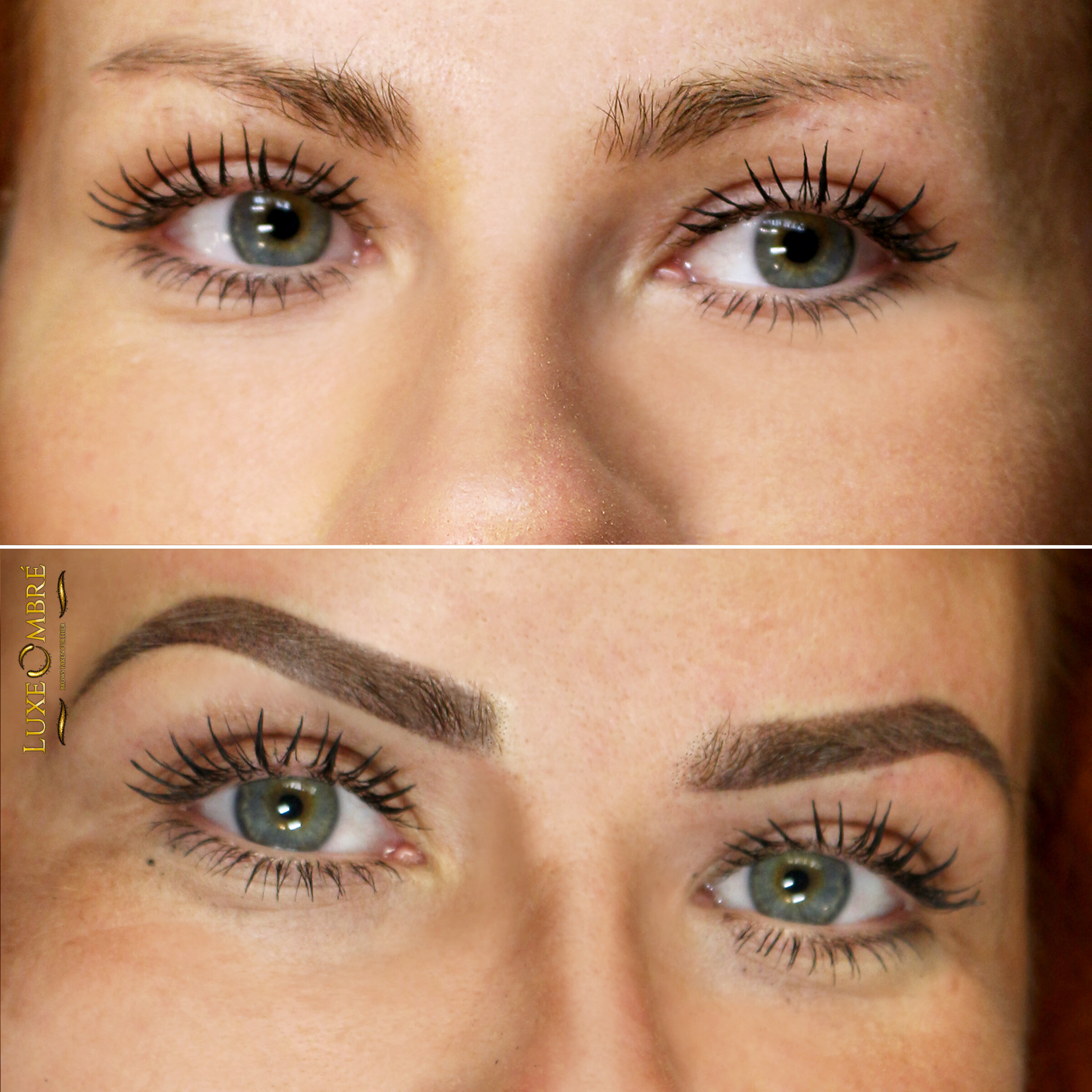 New brows made with LuxeOmbre change the face totally.
