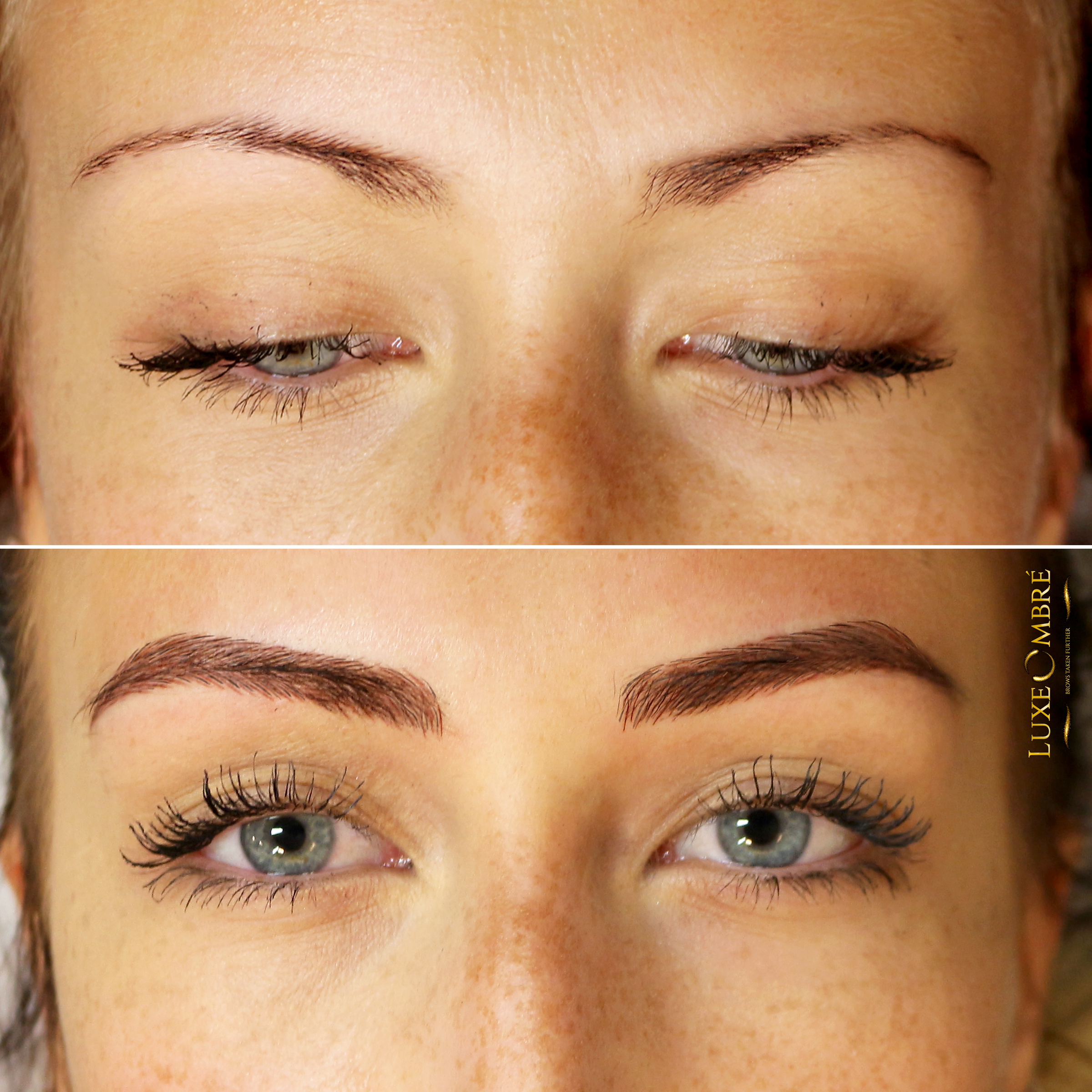 LuxeOmbre combined with some microblading used to save a pair of brows.