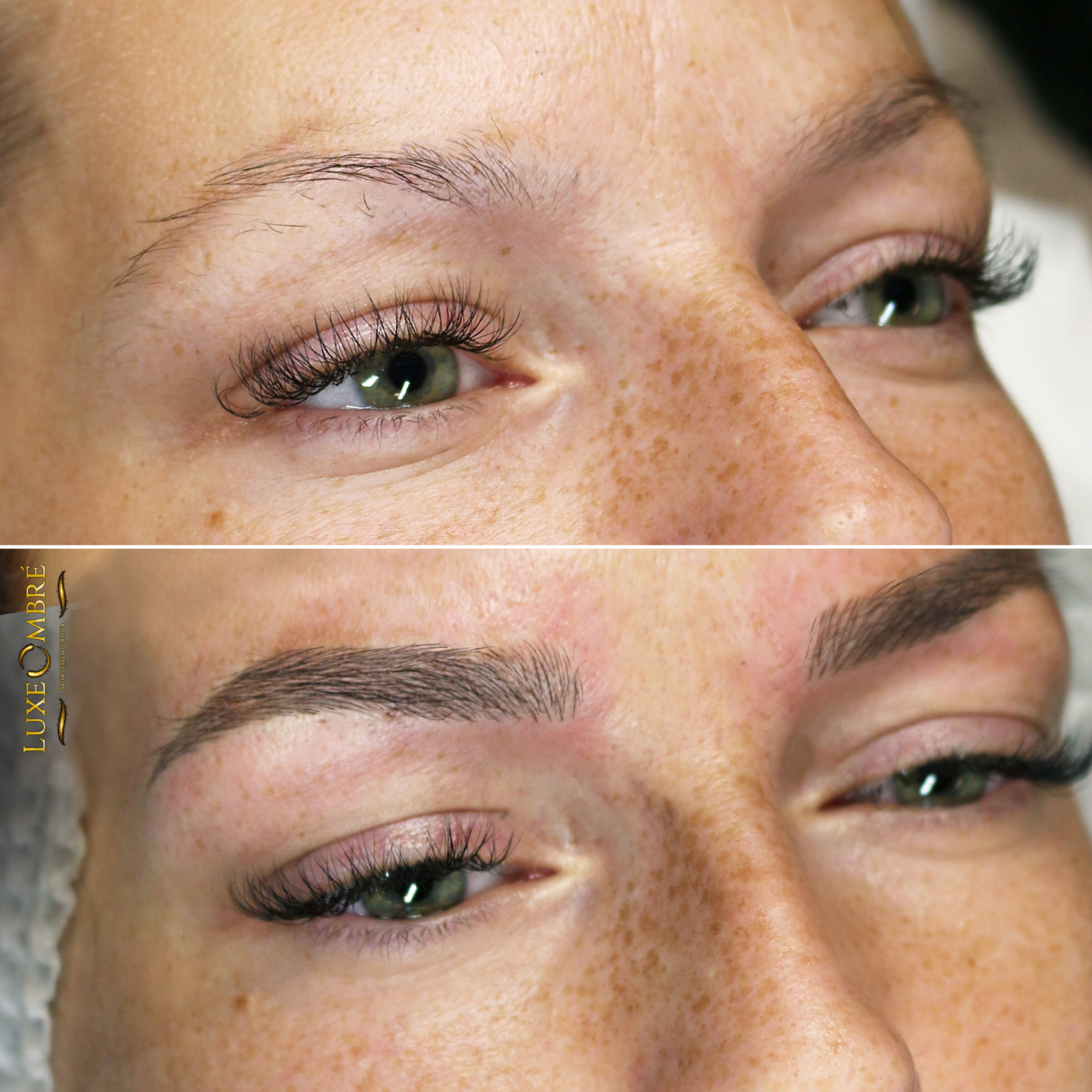 Excellent combination of LuxeOmbre and microblading.