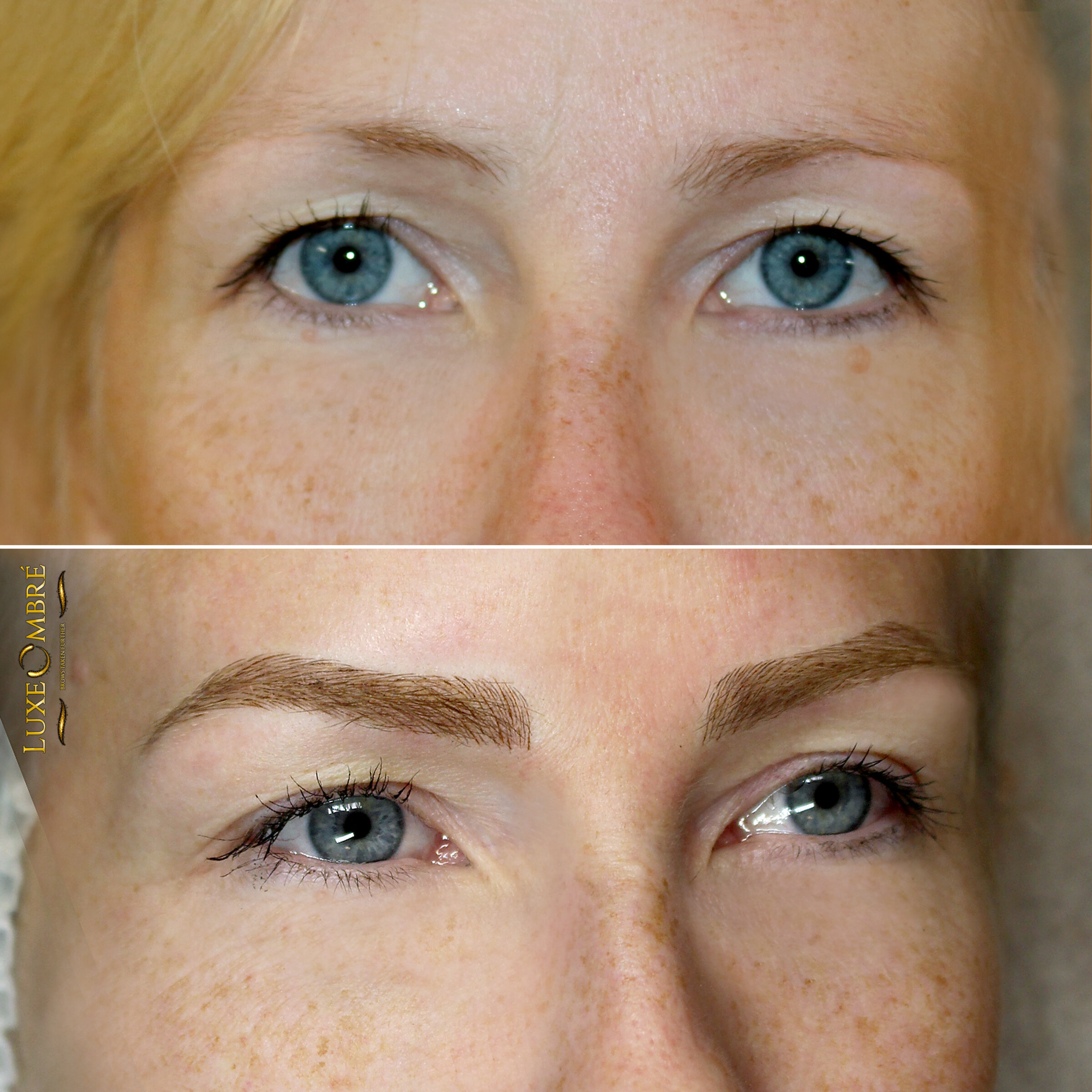 Another combination of LuxeOmbre and microblading - the two techniques that just compliment each other.