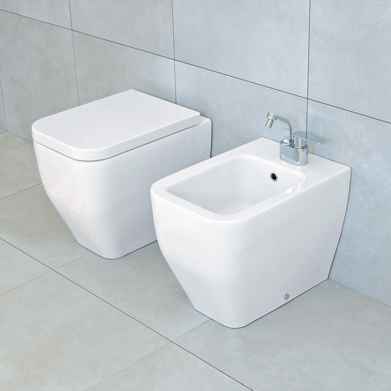 Vakkert toalett for gulvmontering.